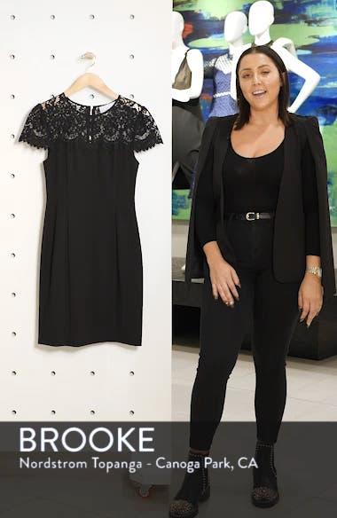Lace Yoke Sheath Dress, sales video thumbnail