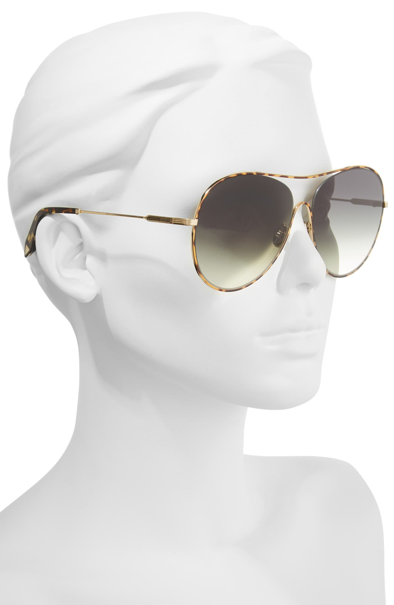 VICTORIA BECKHAM, Loop 63mm Oversize Round Sunglasses, Alternate thumbnail 2, color, AURORA