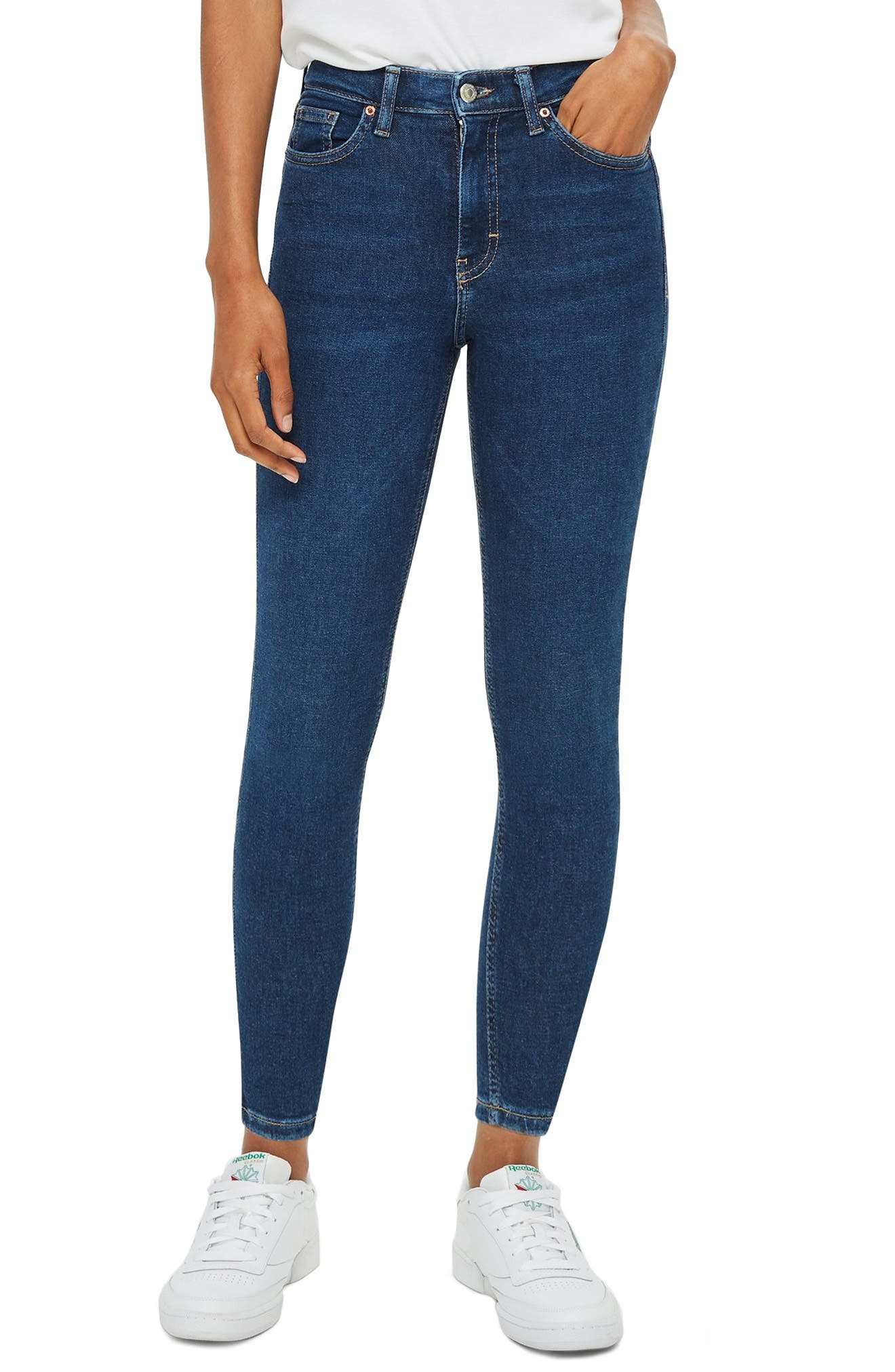TOPSHOP Jamie Skinny Jeans, Main, color, INDIGO