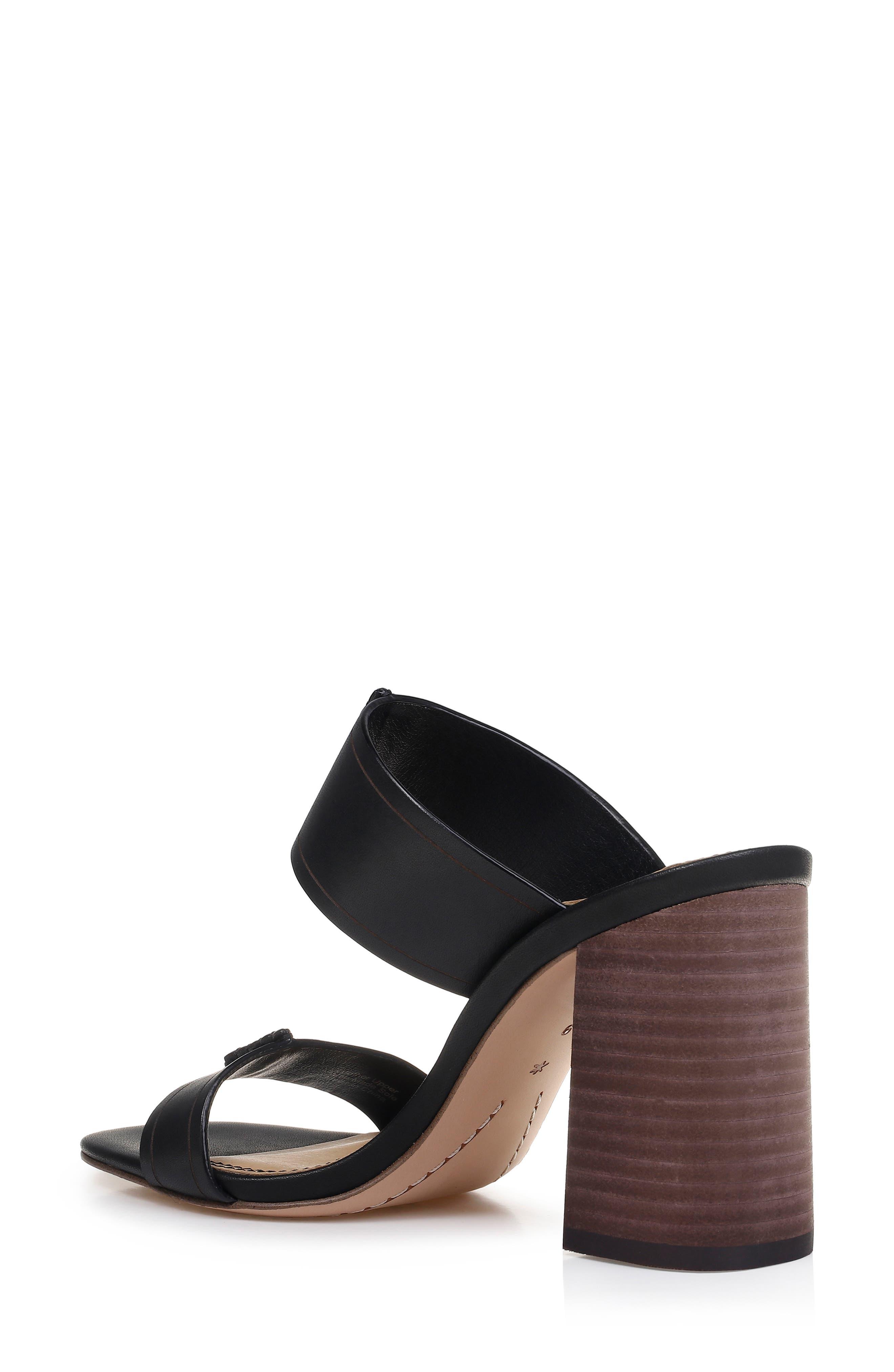 SPLENDID, Tacy Slide Sandal, Alternate thumbnail 2, color, BLACK LEATHER
