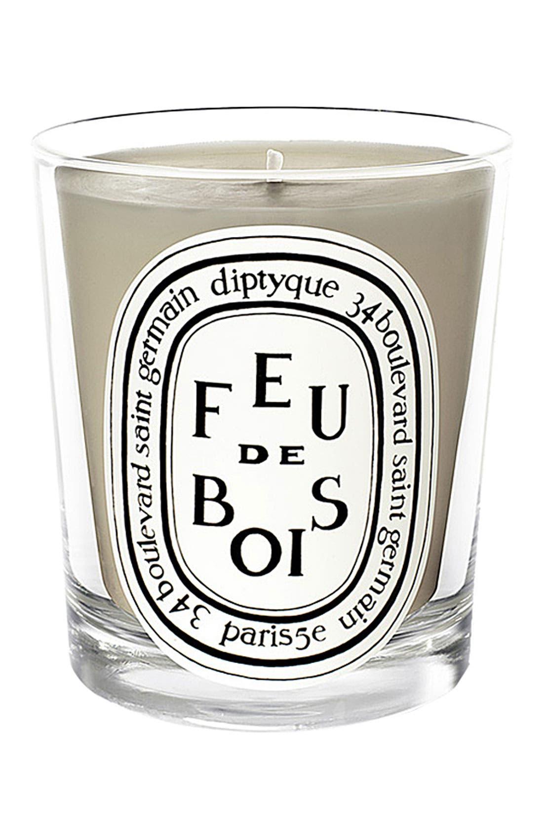 DIPTYQUE, Feu de Bois/Wood Fire Scented Candle, Main thumbnail 1, color, NO COLOR