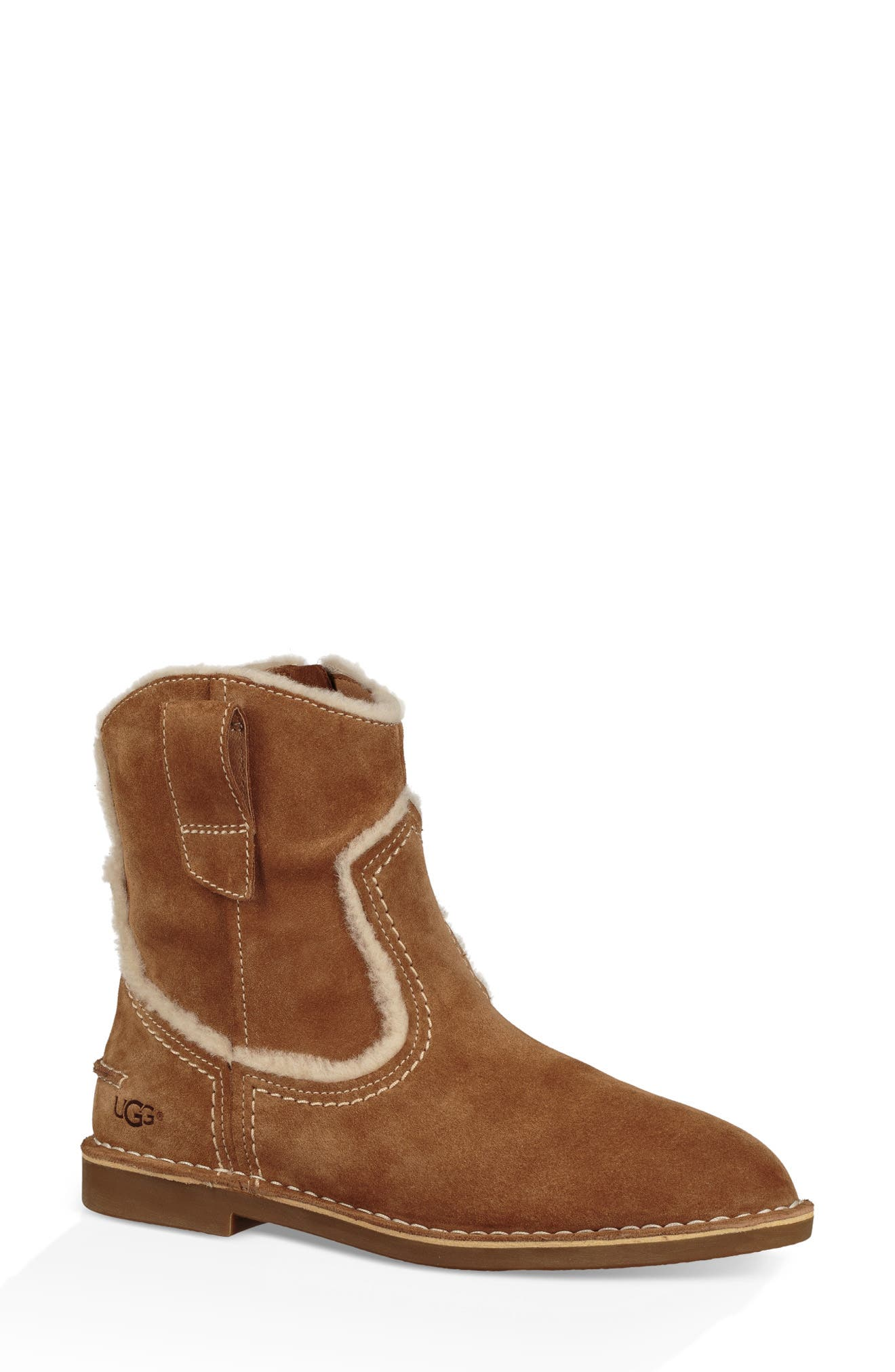 UGG<SUP>®</SUP>, Catica Boot, Main thumbnail 1, color, CHESTNUT SUEDE