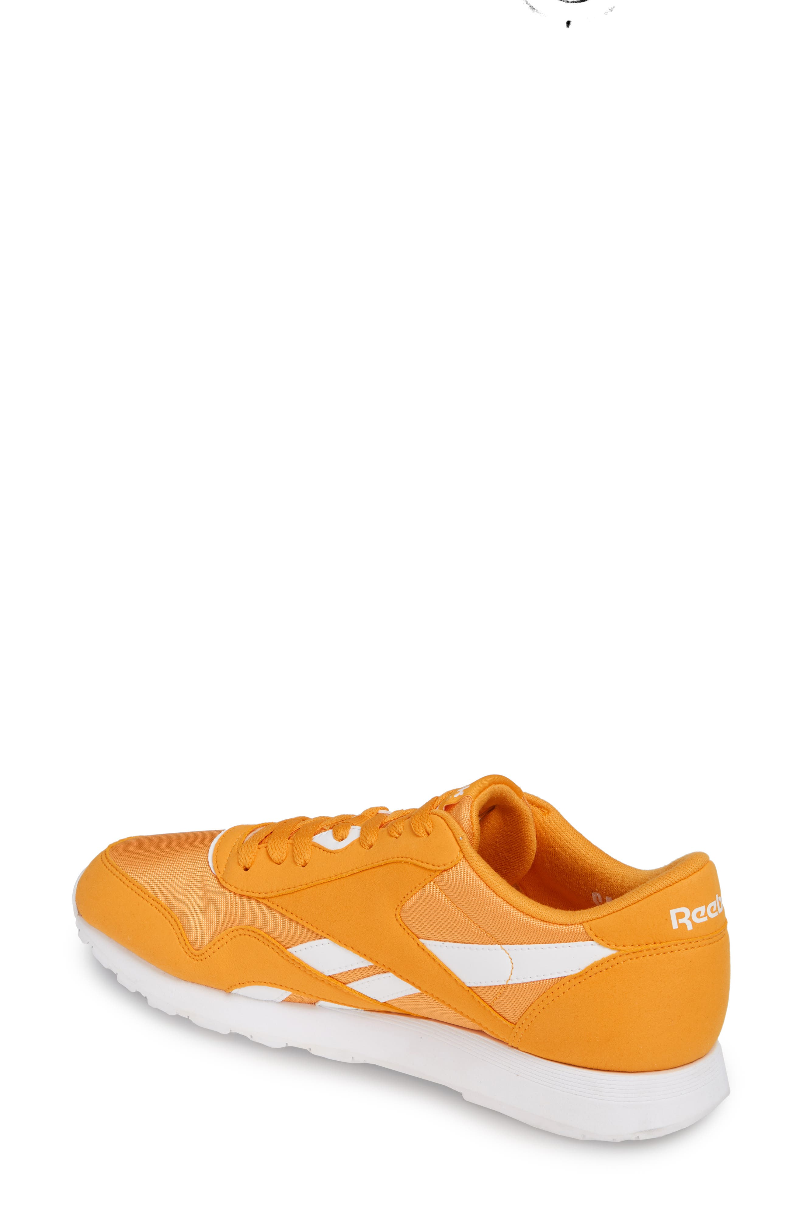 REEBOK, Classic Nylon Sneaker, Alternate thumbnail 2, color, TREK GOLD/ WHITE