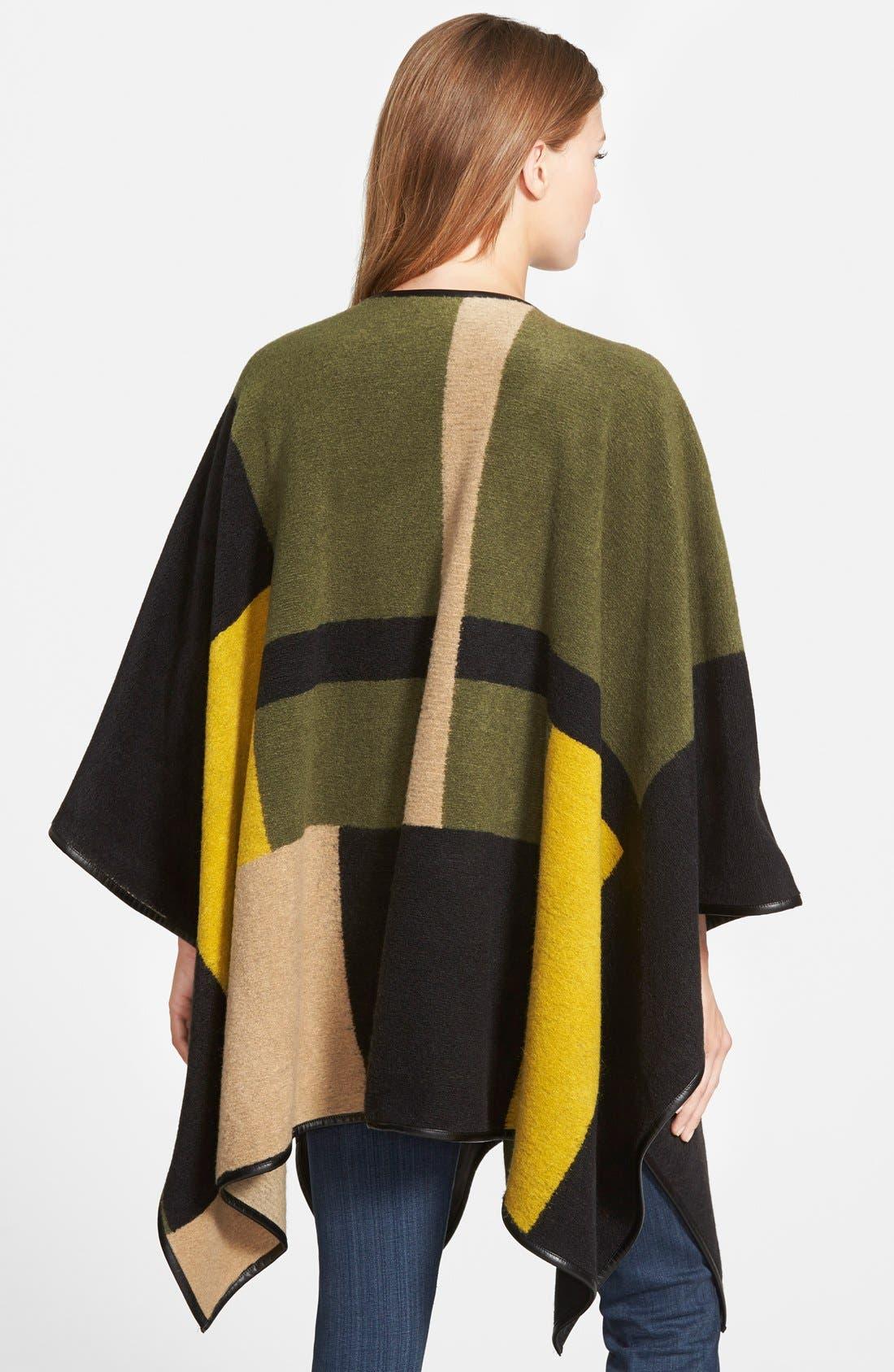 VINCE CAMUTO, Blanket Jacquard Poncho, Alternate thumbnail 2, color, 342