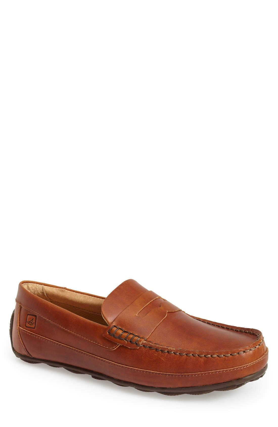 SPERRY, 'Hampden' Penny Loafer, Main thumbnail 1, color, TAN
