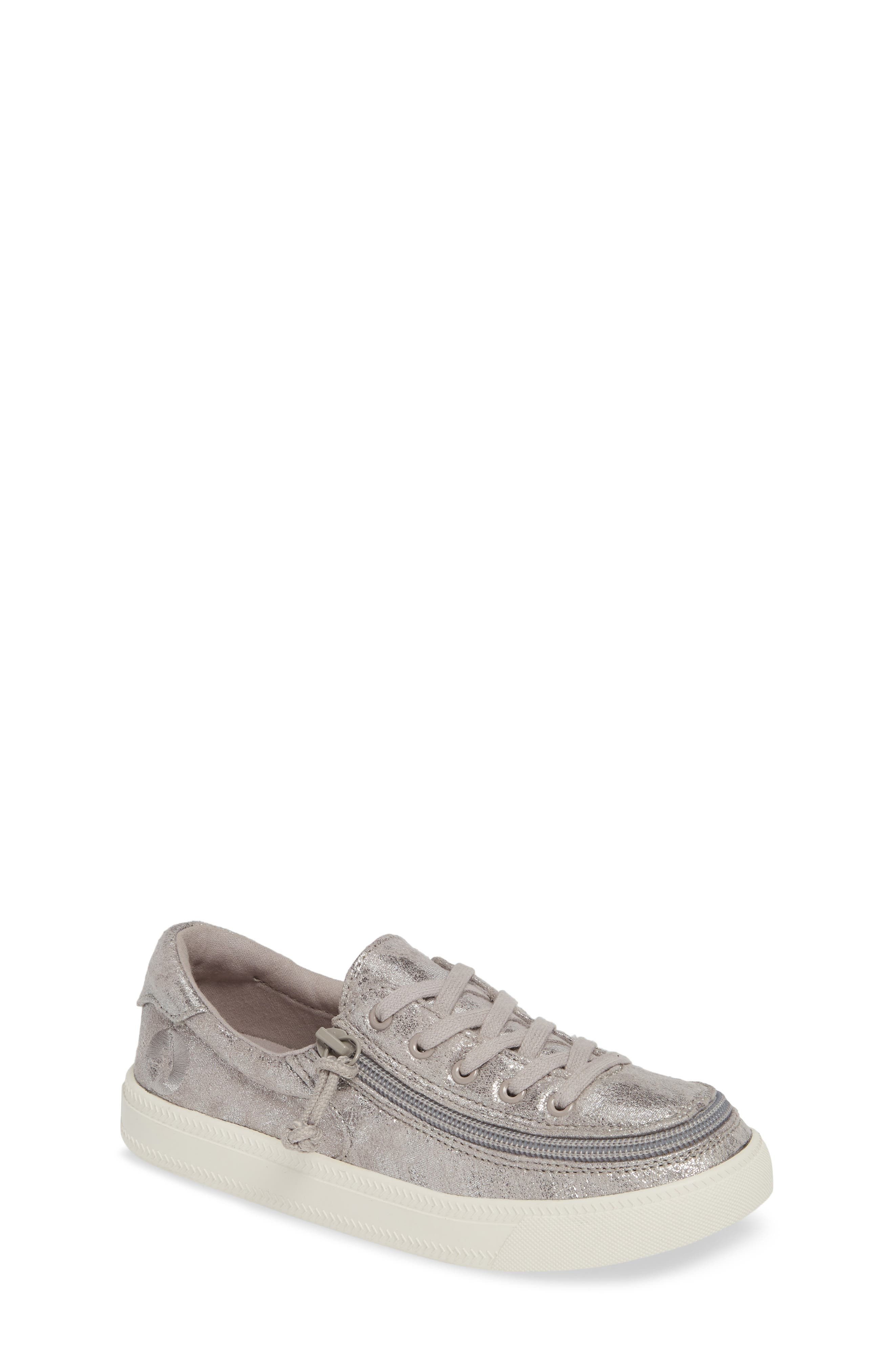 BILLY FOOTWEAR Zip Around Low Top Sneaker, Main, color, GREY METALLIC