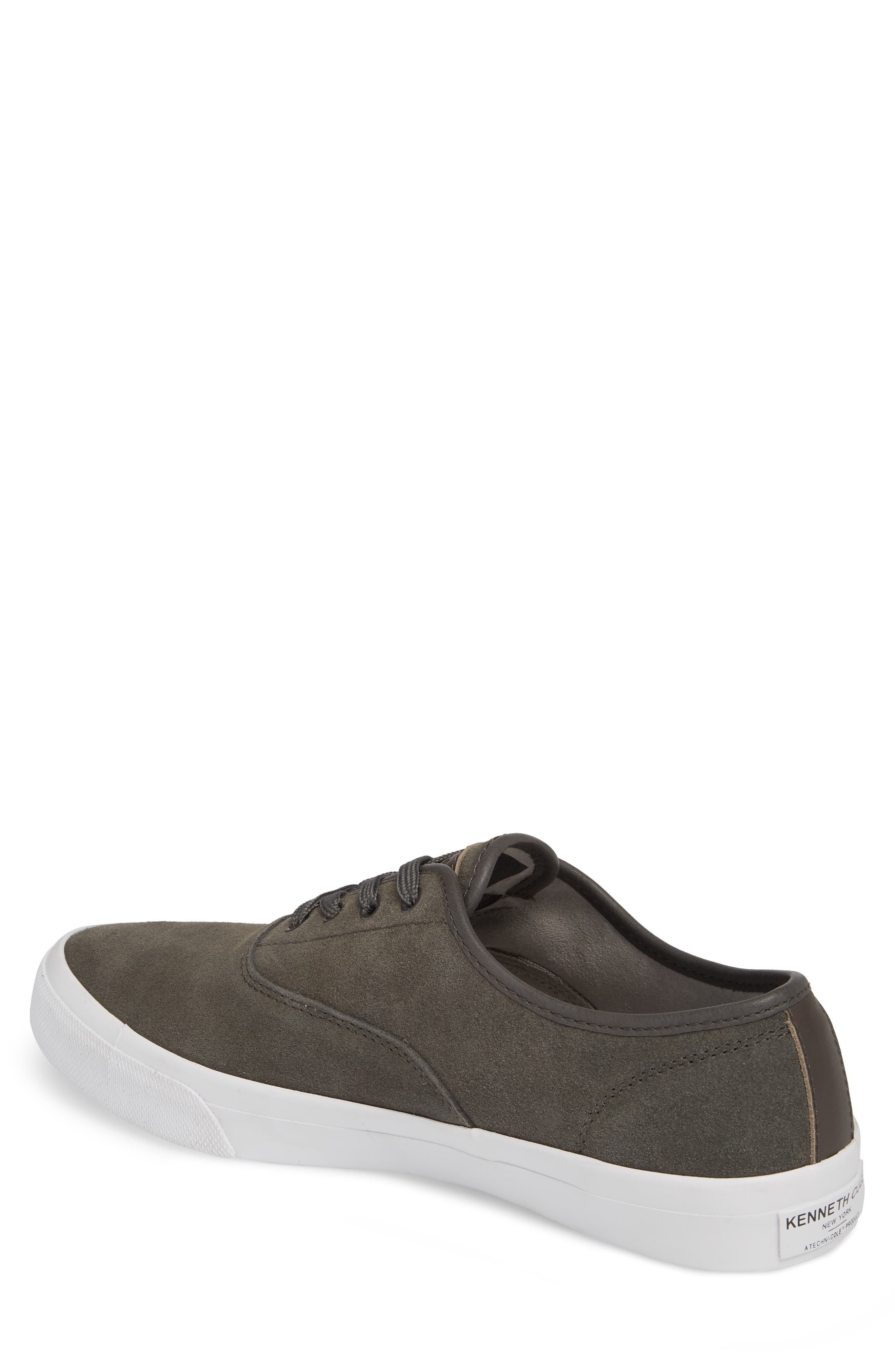 KENNETH COLE NEW YORK, Toor Low Top Sneaker, Alternate thumbnail 2, color, GREY COMBO SUEDE