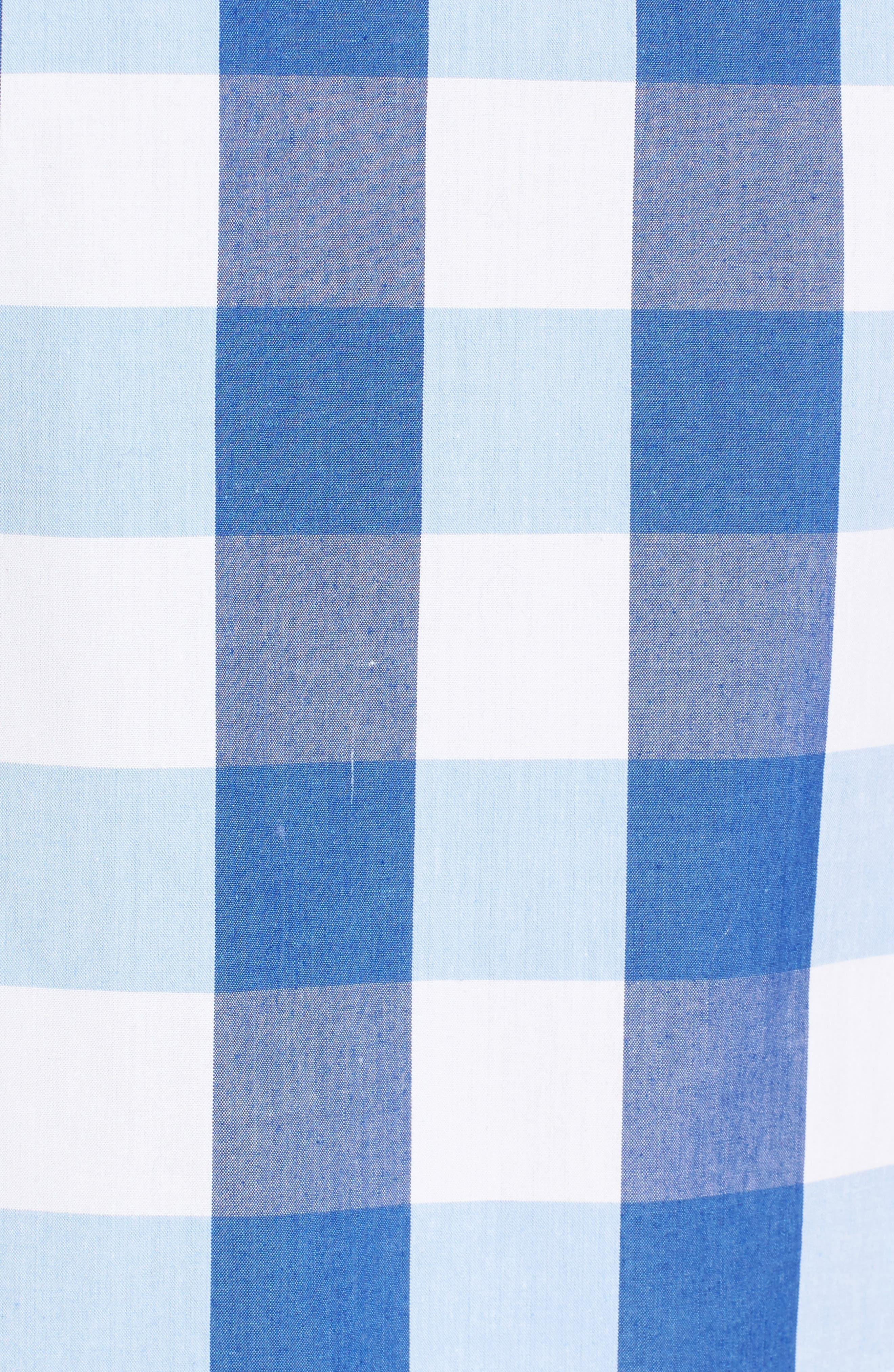 DRAPER JAMES, Cloister Gingham Cotton Top, Alternate thumbnail 5, color, 400