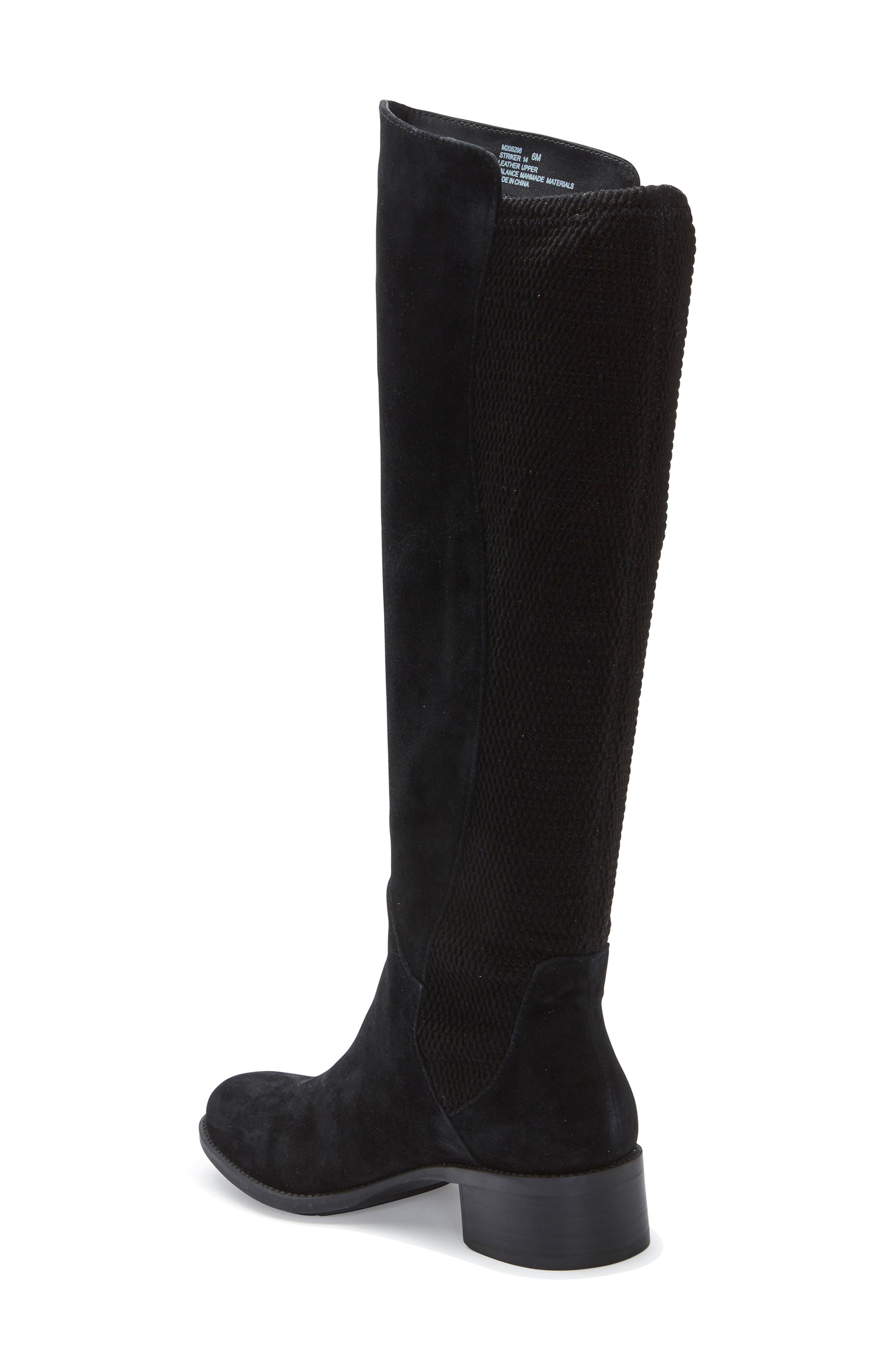 ME TOO, Striker Boot, Alternate thumbnail 2, color, BLACK SUEDE