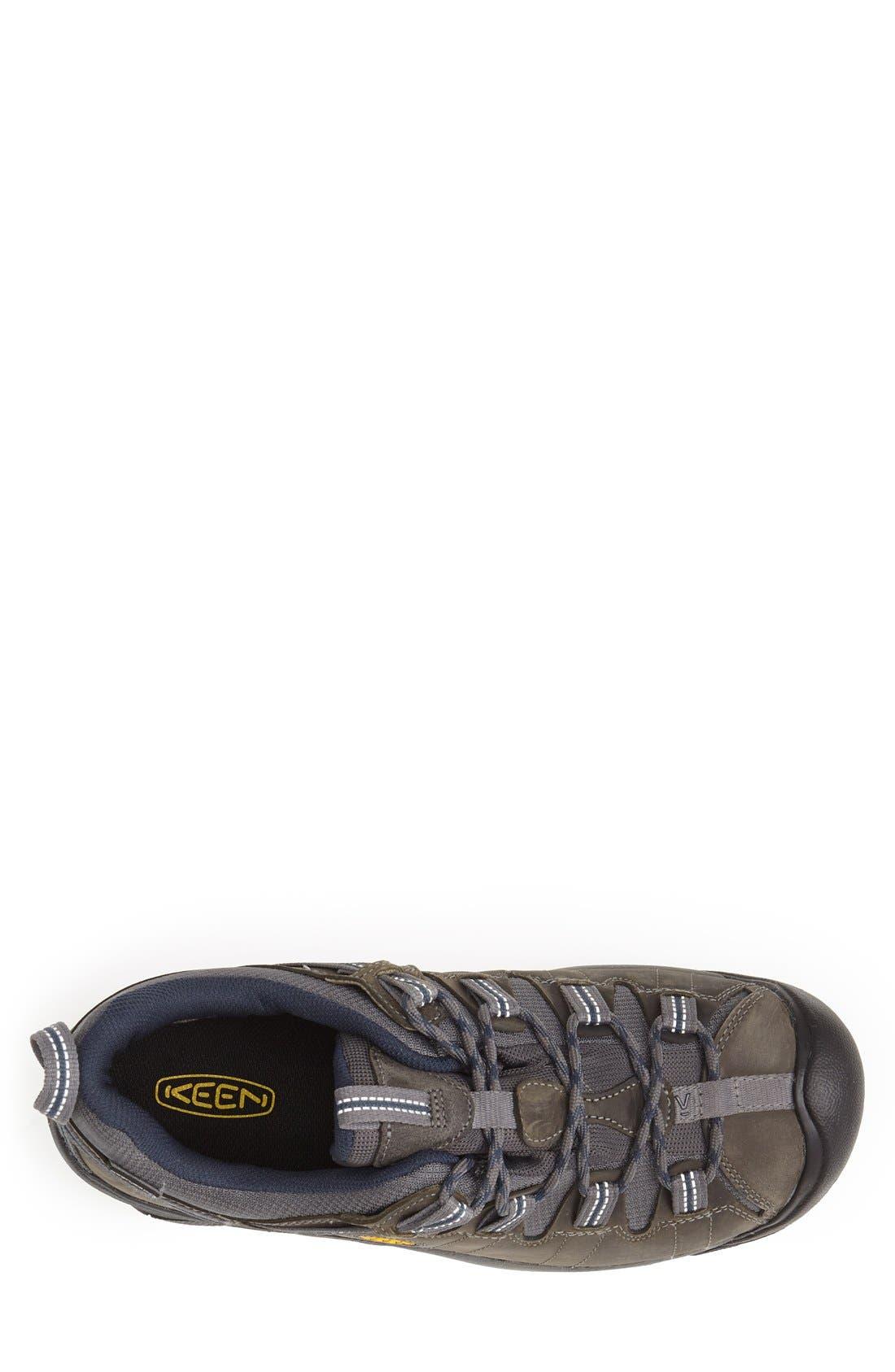KEEN, 'Targhee II' Waterproof Hiking Shoe, Alternate thumbnail 2, color, GARGOLYE/ MIDNGHT NAVY