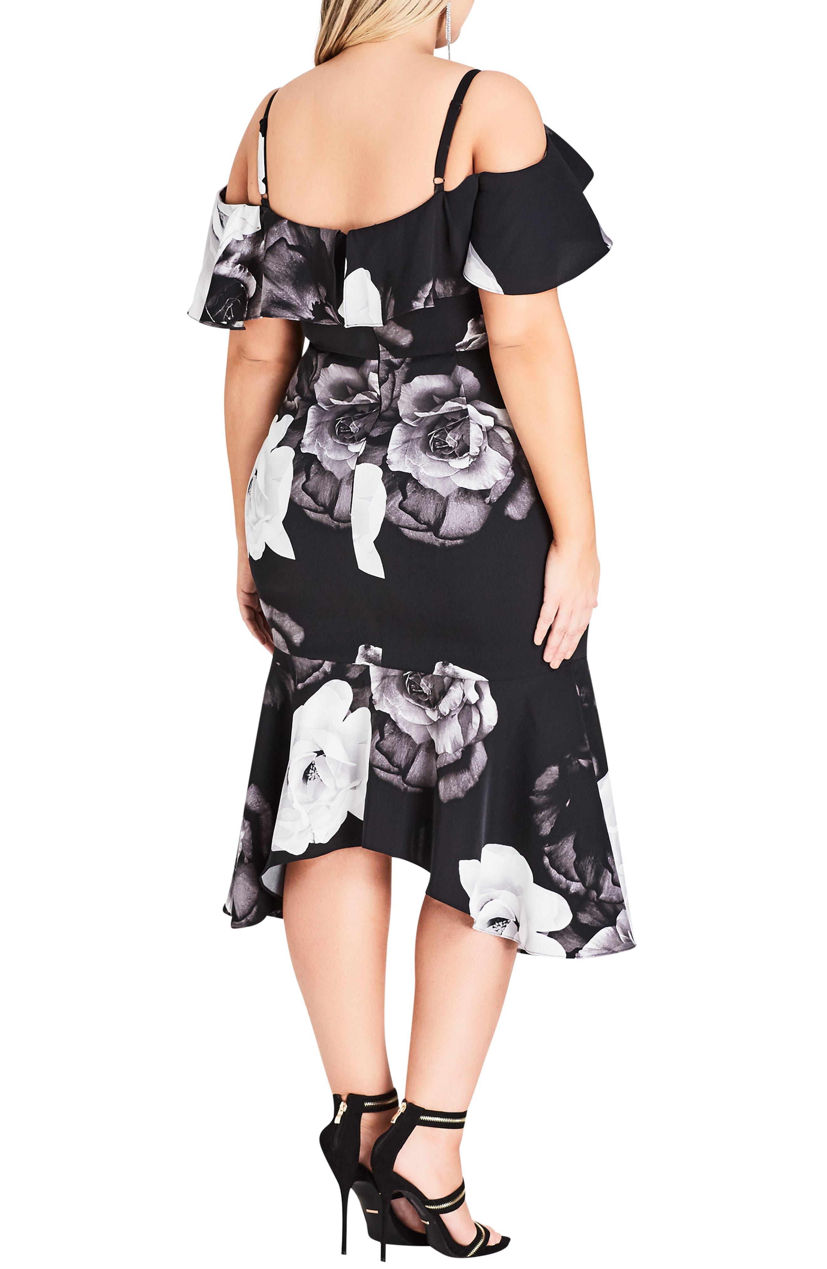 CITY CHIC, Rose Shadows Sheath Dress, Alternate thumbnail 2, color, ROSE SHADOWS