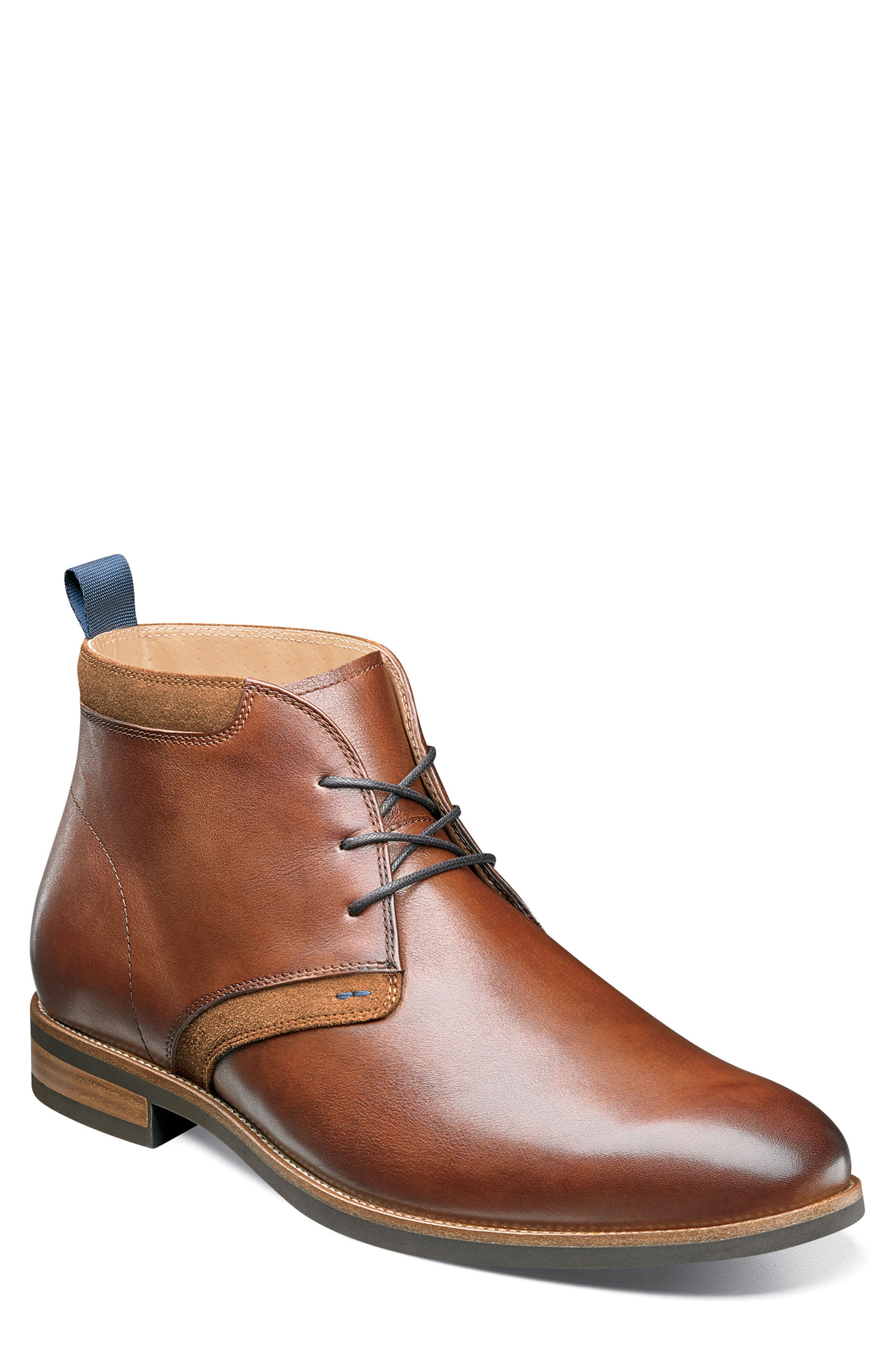 FLORSHEIM, Uptown Chukka Boot, Main thumbnail 1, color, COGNAC LEATHER