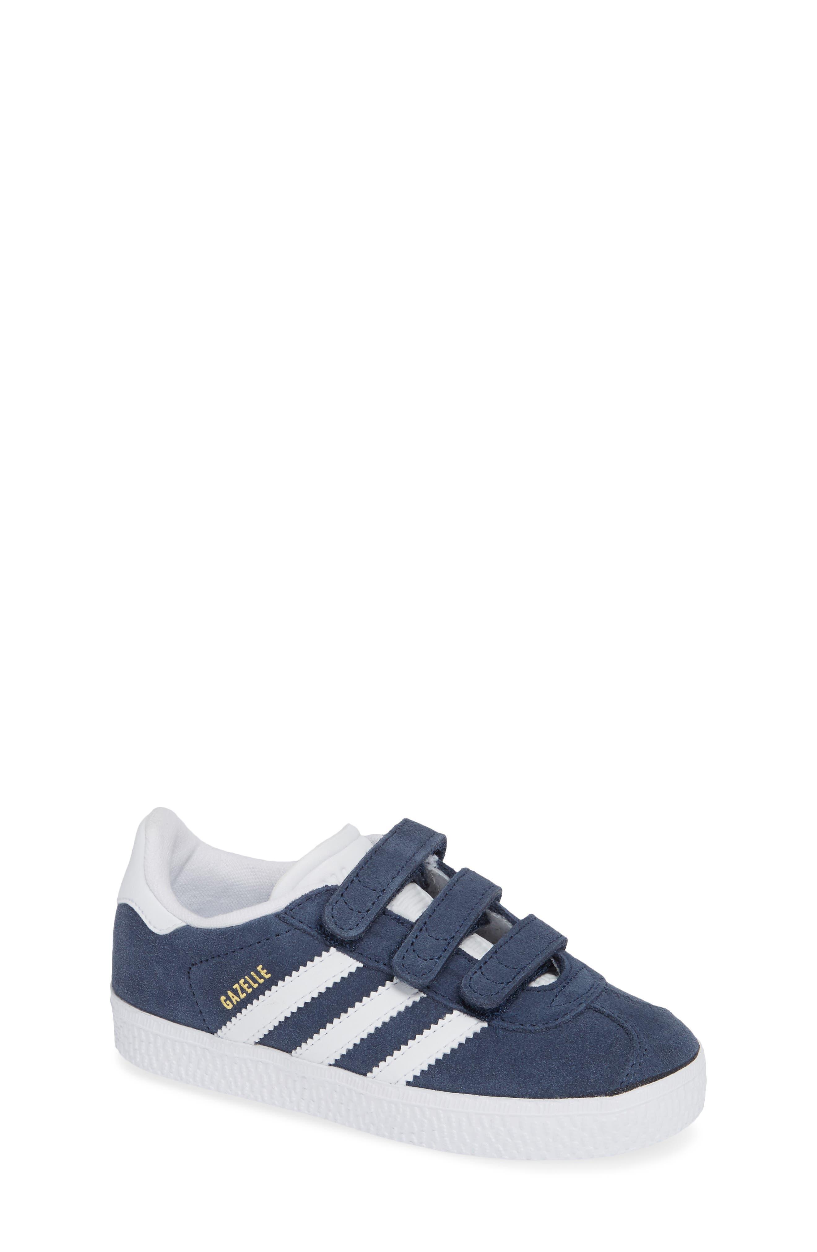 ADIDAS, Gazelle Sneaker, Main thumbnail 1, color, NAVY/ WHITE