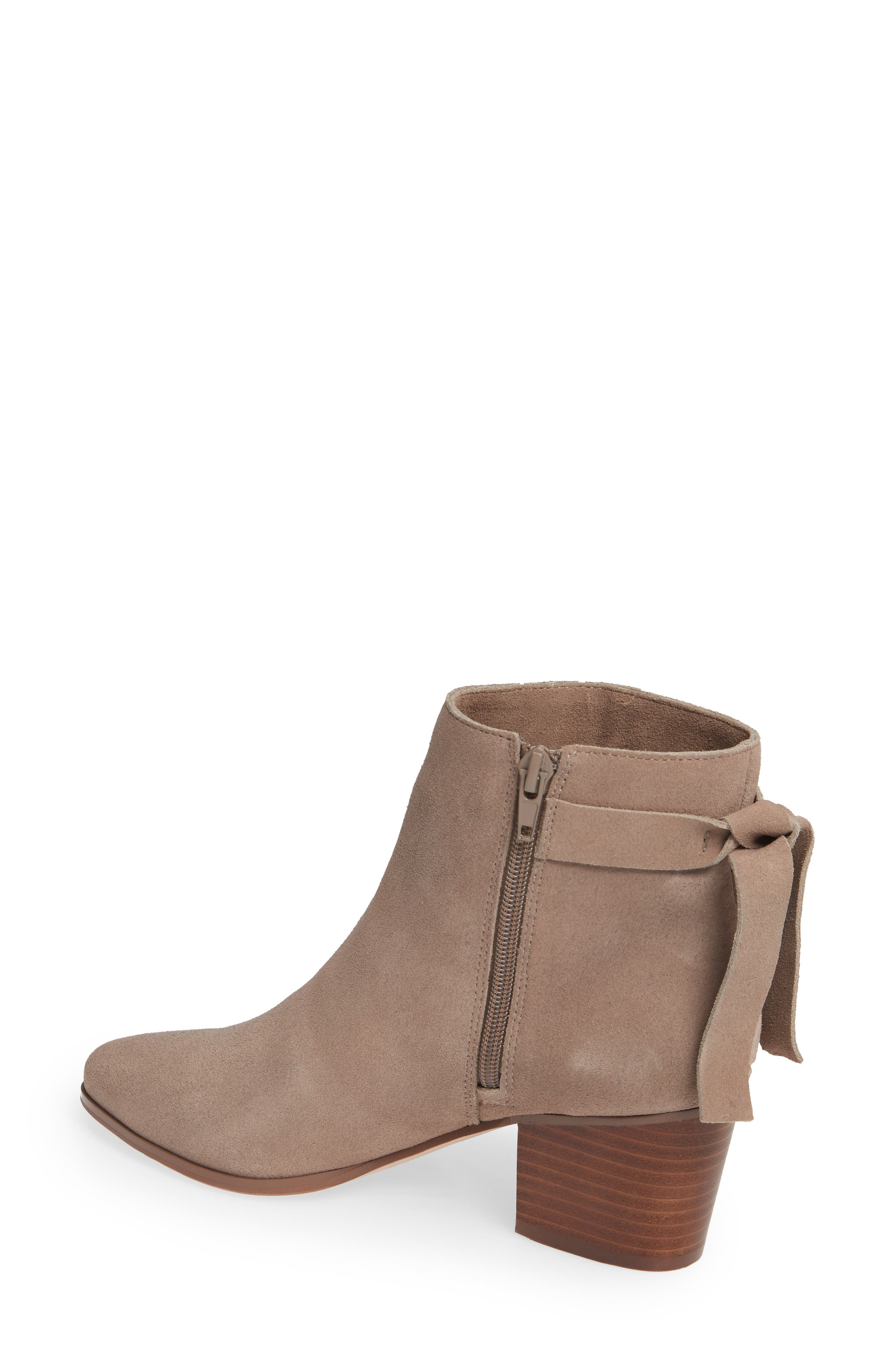 SOLE SOCIETY, Rhilynn Bootie, Alternate thumbnail 2, color, FALL TAUPE SUEDE