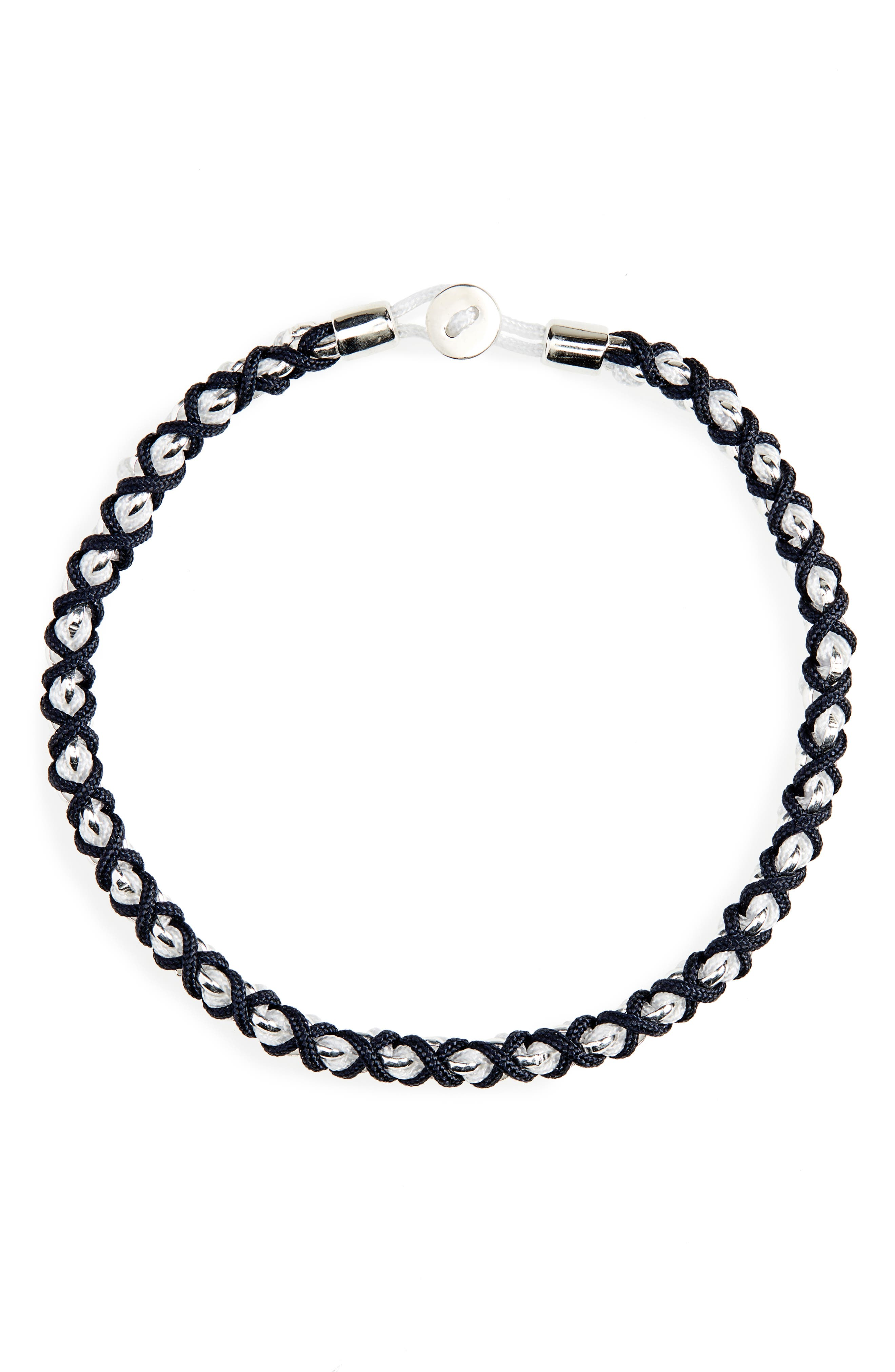 MIANSAI, Nexus Chain Bracelet, Main thumbnail 1, color, NAVY/ WHITE