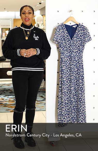 Floral Wrap Front Midi Dress, sales video thumbnail