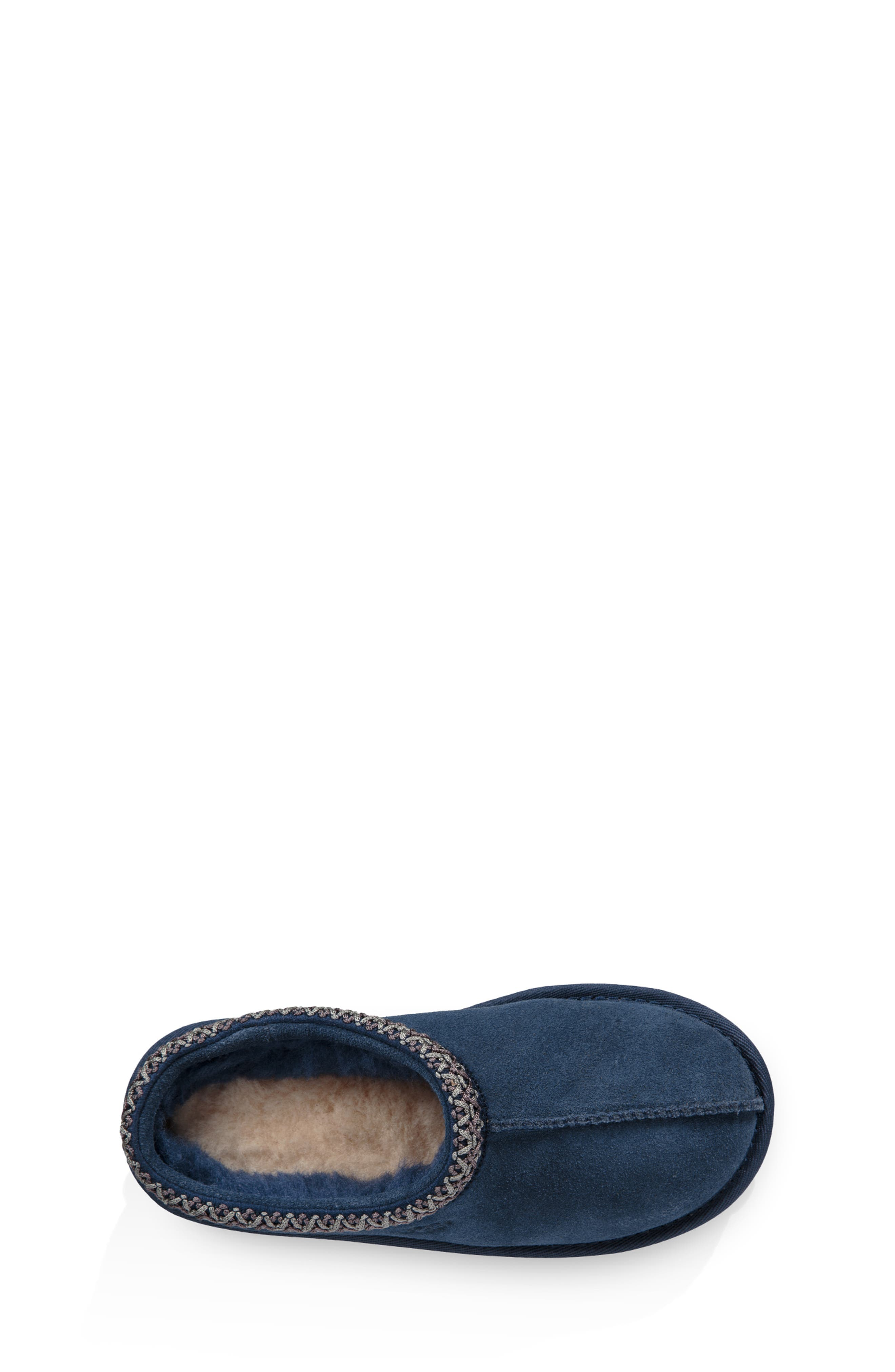 UGG<SUP>®</SUP>, K-Tasman II Embroidered Slipper, Alternate thumbnail 4, color, NEW NAVY