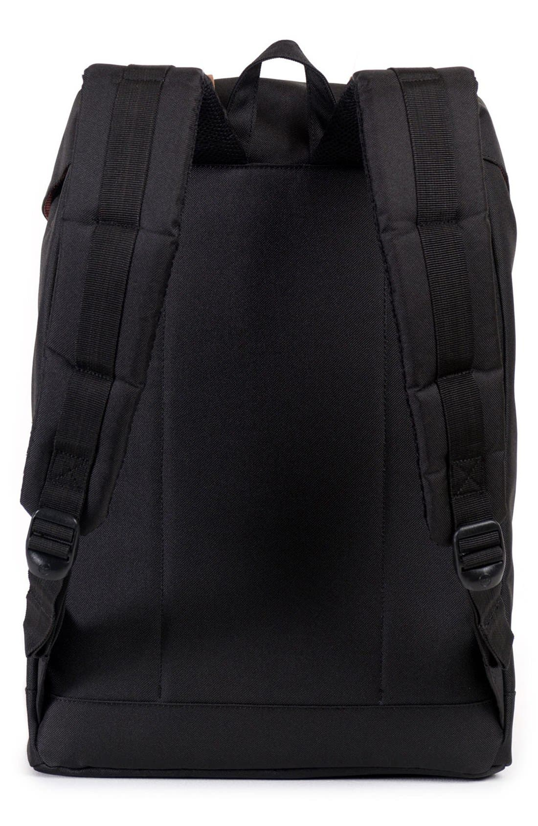 HERSCHEL SUPPLY CO., 'Retreat' Backpack, Alternate thumbnail 7, color, BLACK