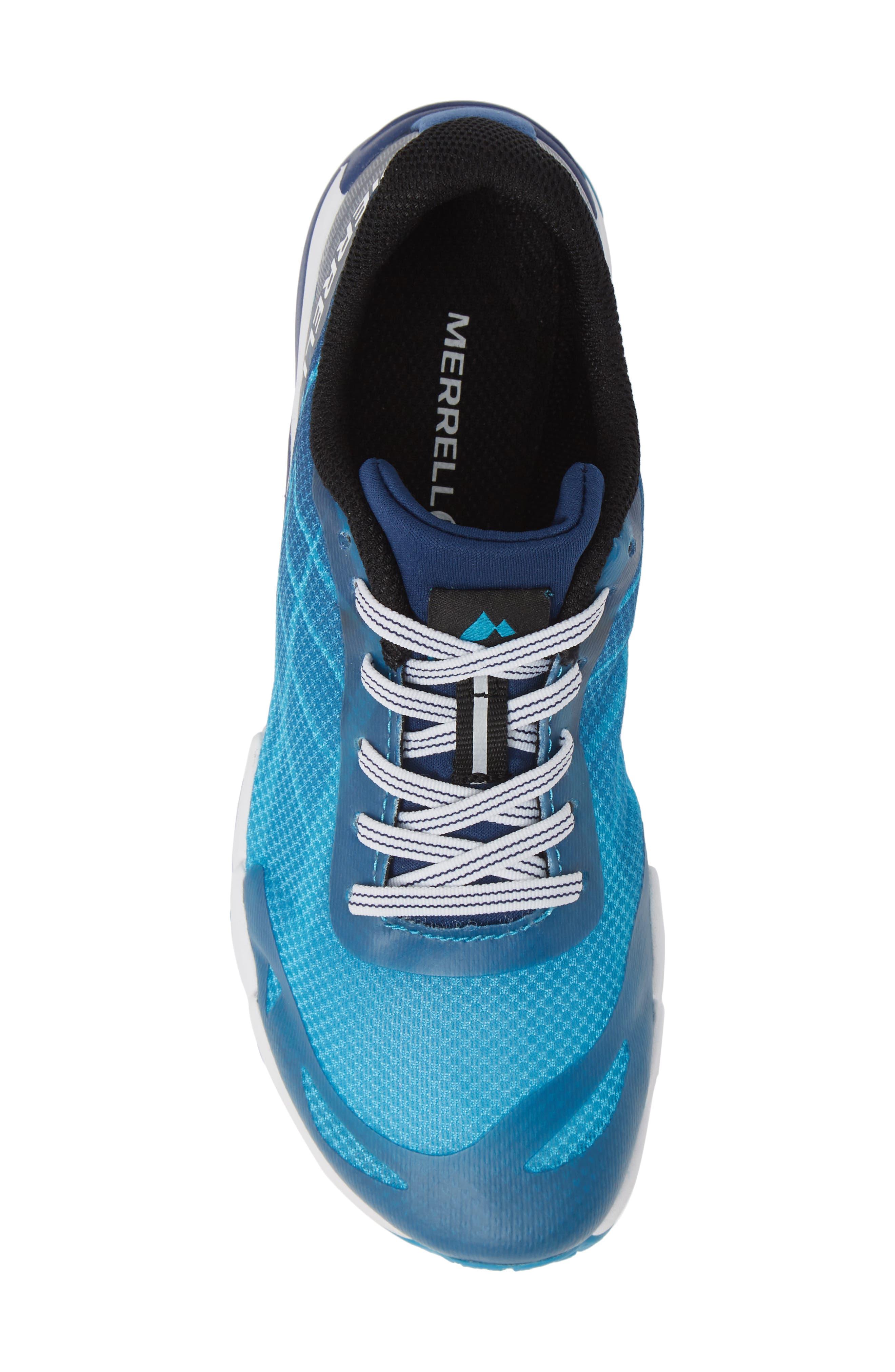 MERRELL, Bare Access Sneaker, Alternate thumbnail 5, color, BLUE SYNTHETIC