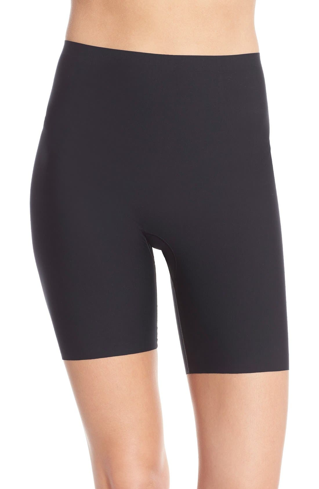 SPANX<SUP>®</SUP>, Thinstincts Mid Thigh Shorts, Main thumbnail 1, color, VERY BLACK