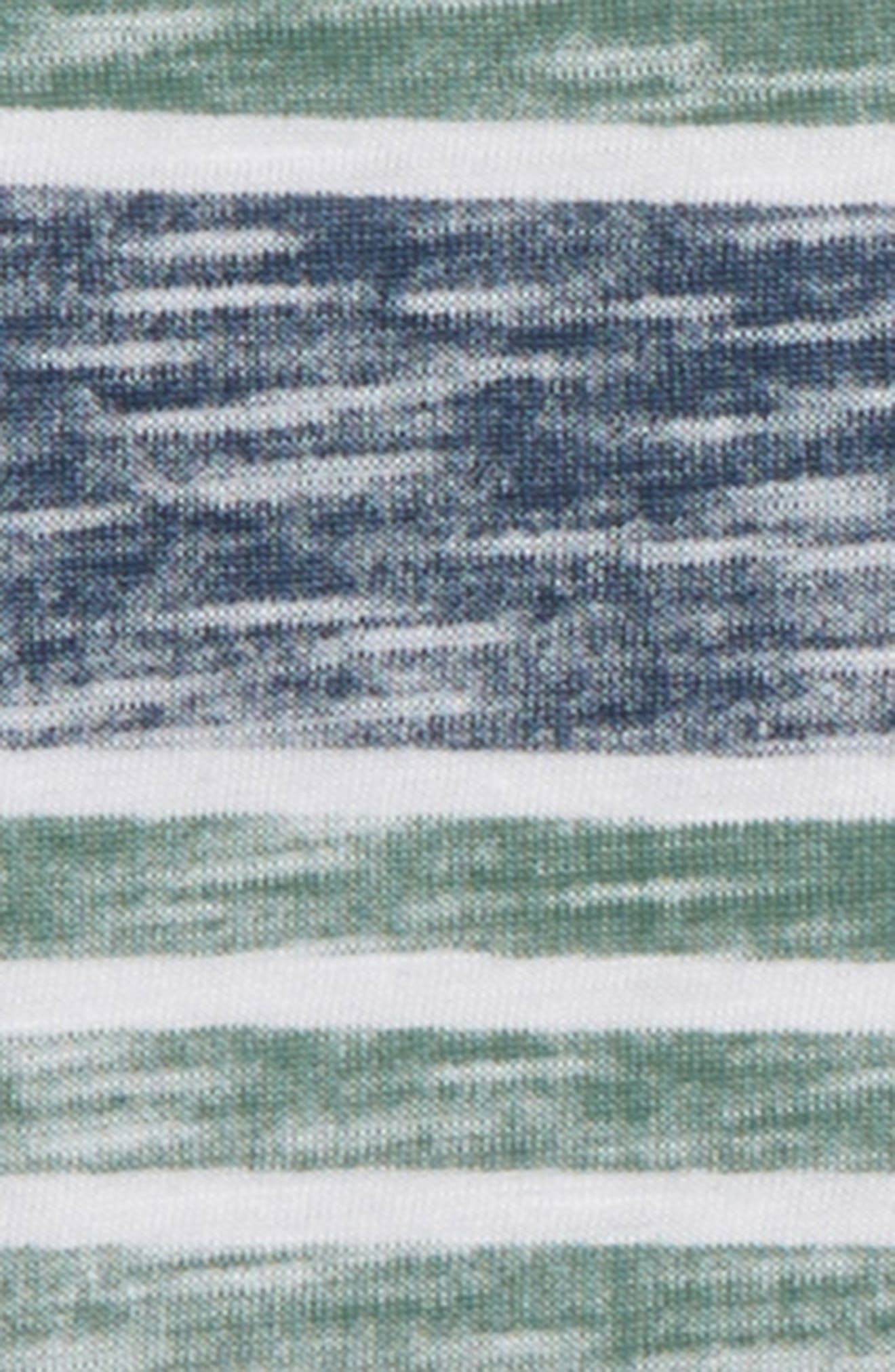 SPLENDID, Reverse Stripe T-Shirt & Shorts Set, Alternate thumbnail 2, color, WHITE VERANDA