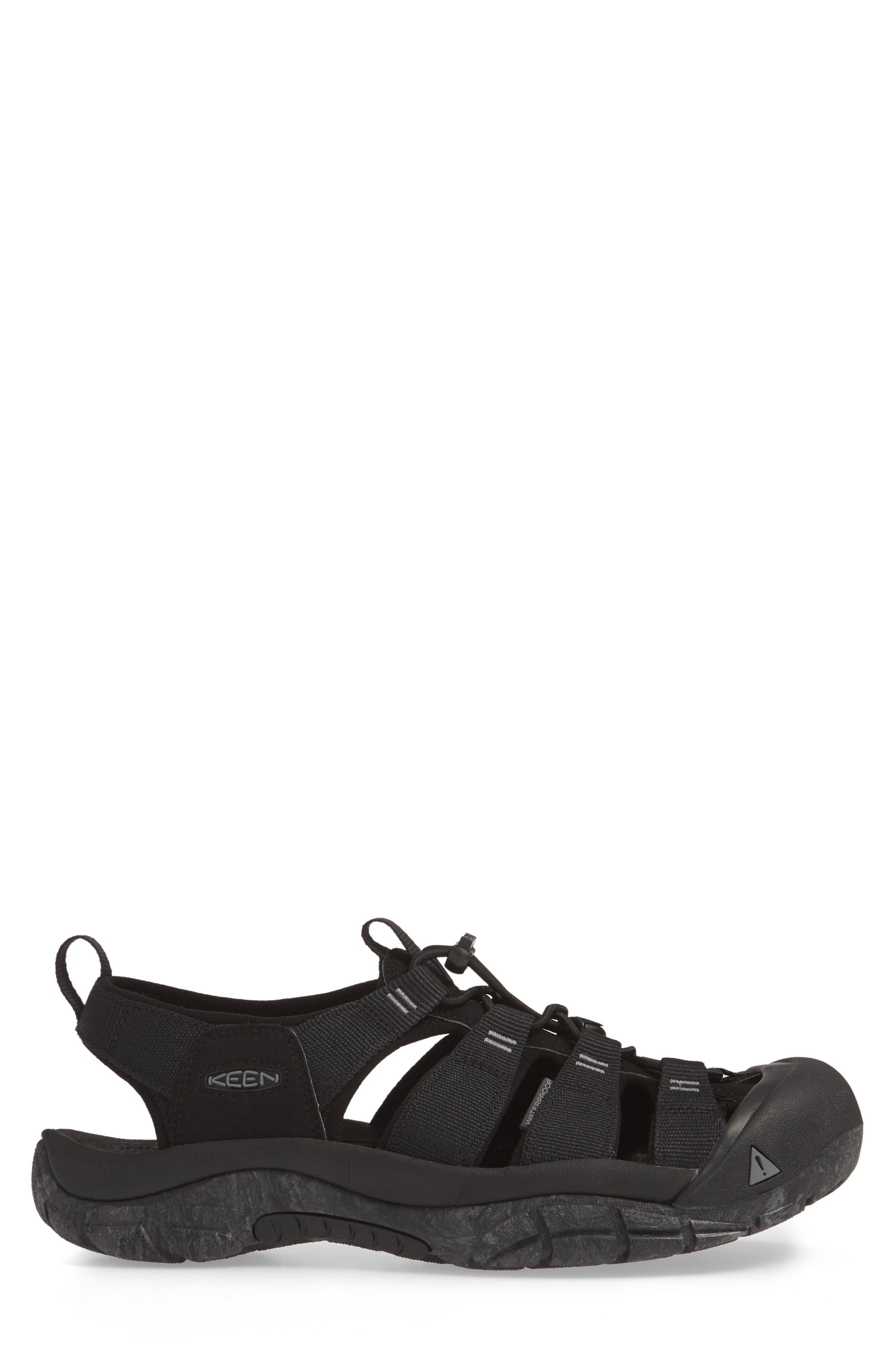 KEEN, 'Newport H2' Sandal, Alternate thumbnail 3, color, BLACK/ SWIRL OUTSOLE