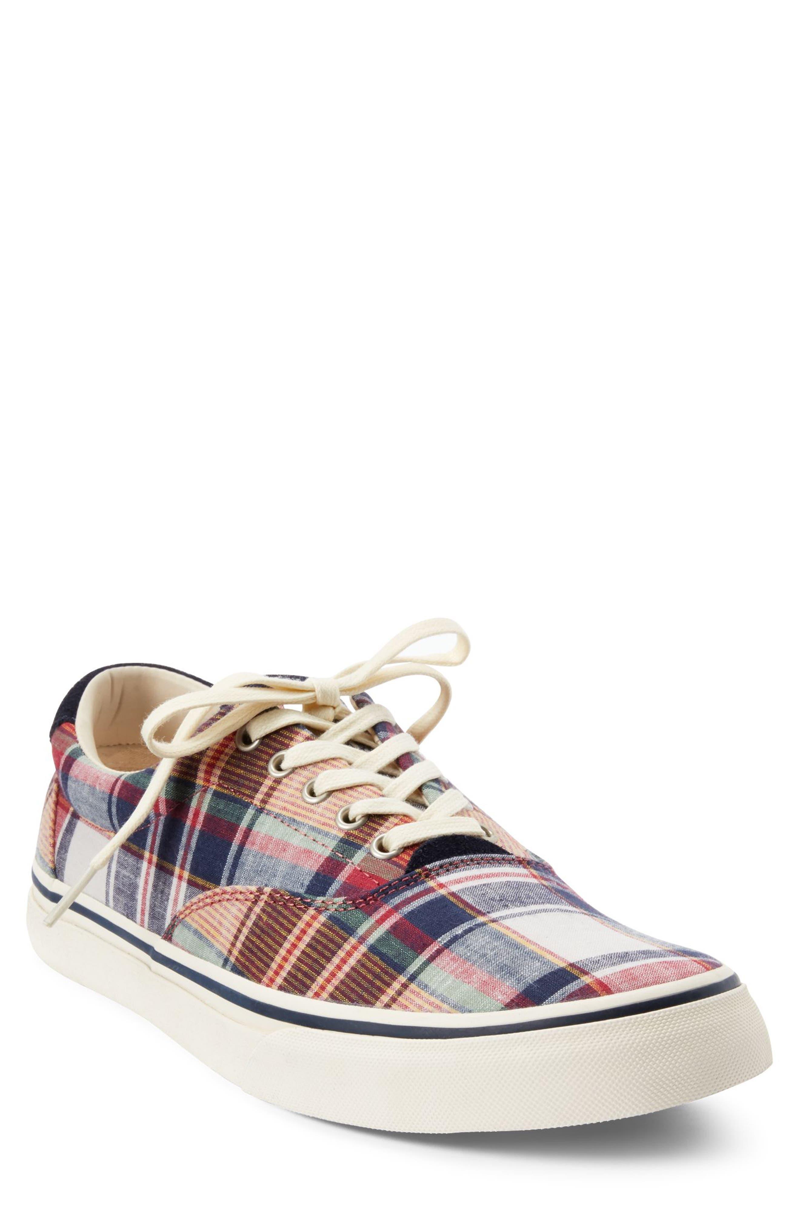 POLO RALPH LAUREN, Thorton III Sneaker, Main thumbnail 1, color, MULTI COLOR FABRIC