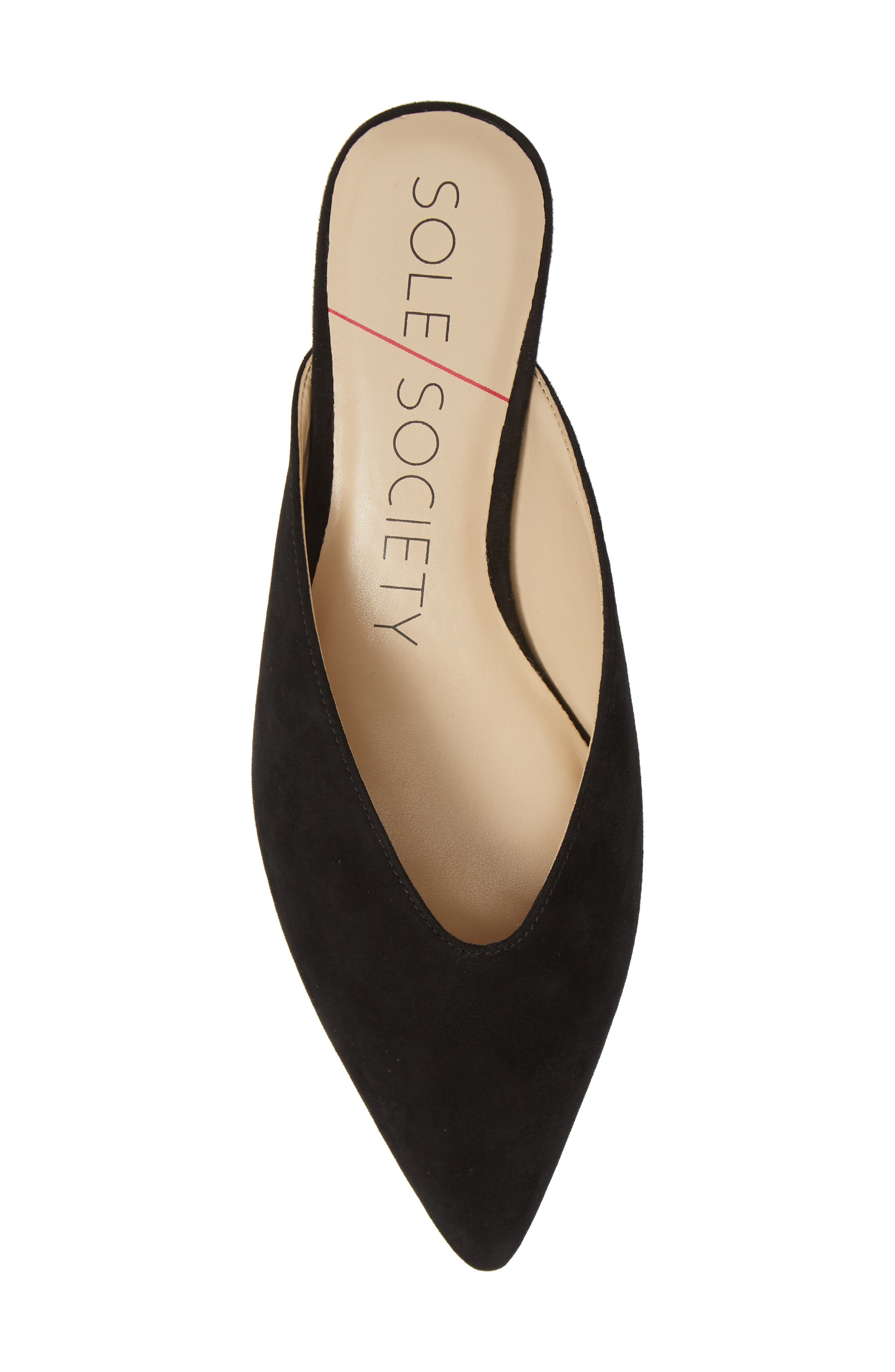 SOLE SOCIETY, Marlessa Mule, Alternate thumbnail 5, color, BLACK SUEDE