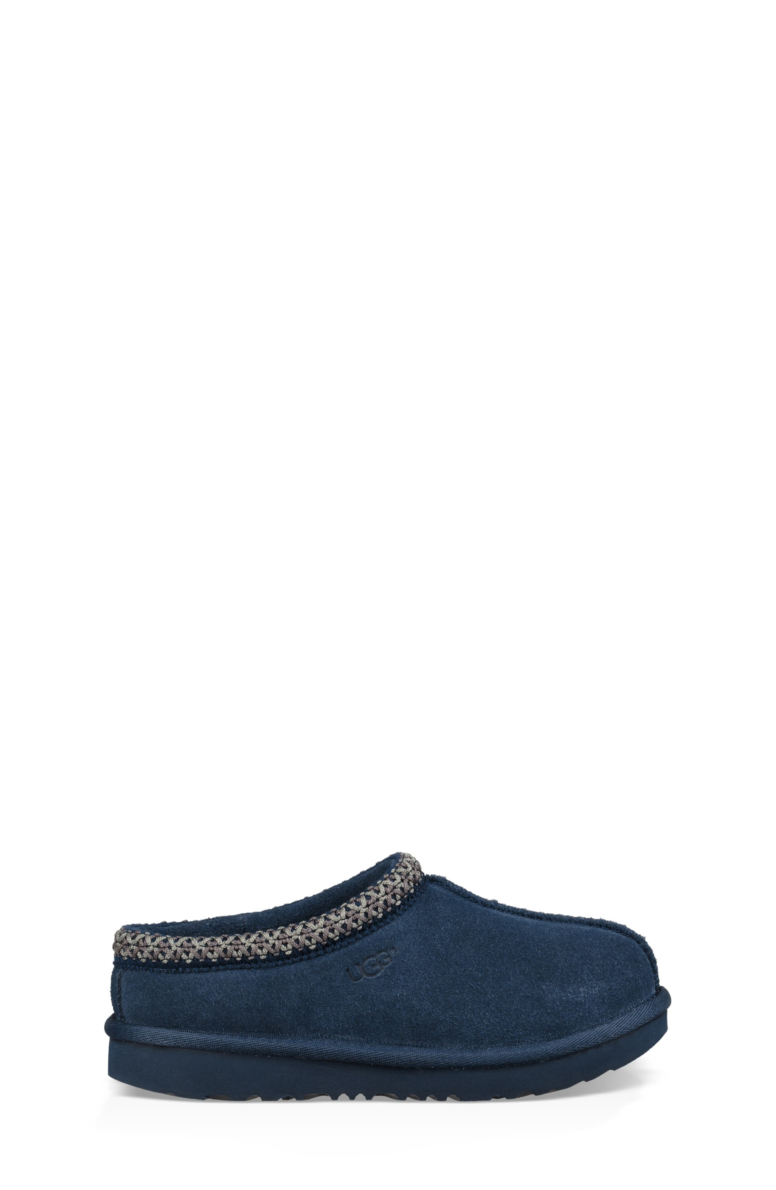 UGG<SUP>®</SUP>, K-Tasman II Embroidered Slipper, Alternate thumbnail 3, color, NEW NAVY