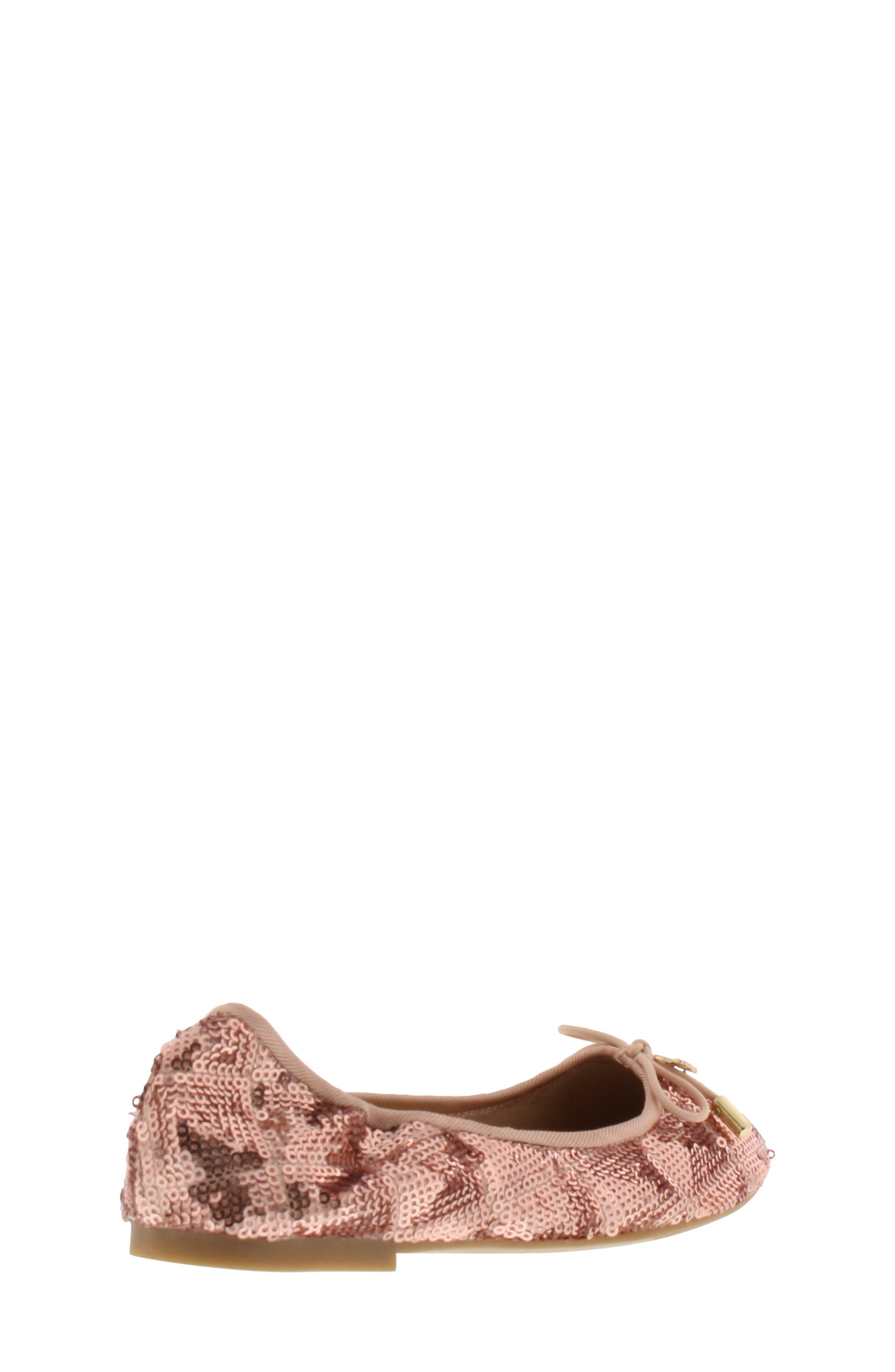 SAM EDELMAN, Felicia Sequin Ballet Flat, Alternate thumbnail 2, color, ROSE GOLD