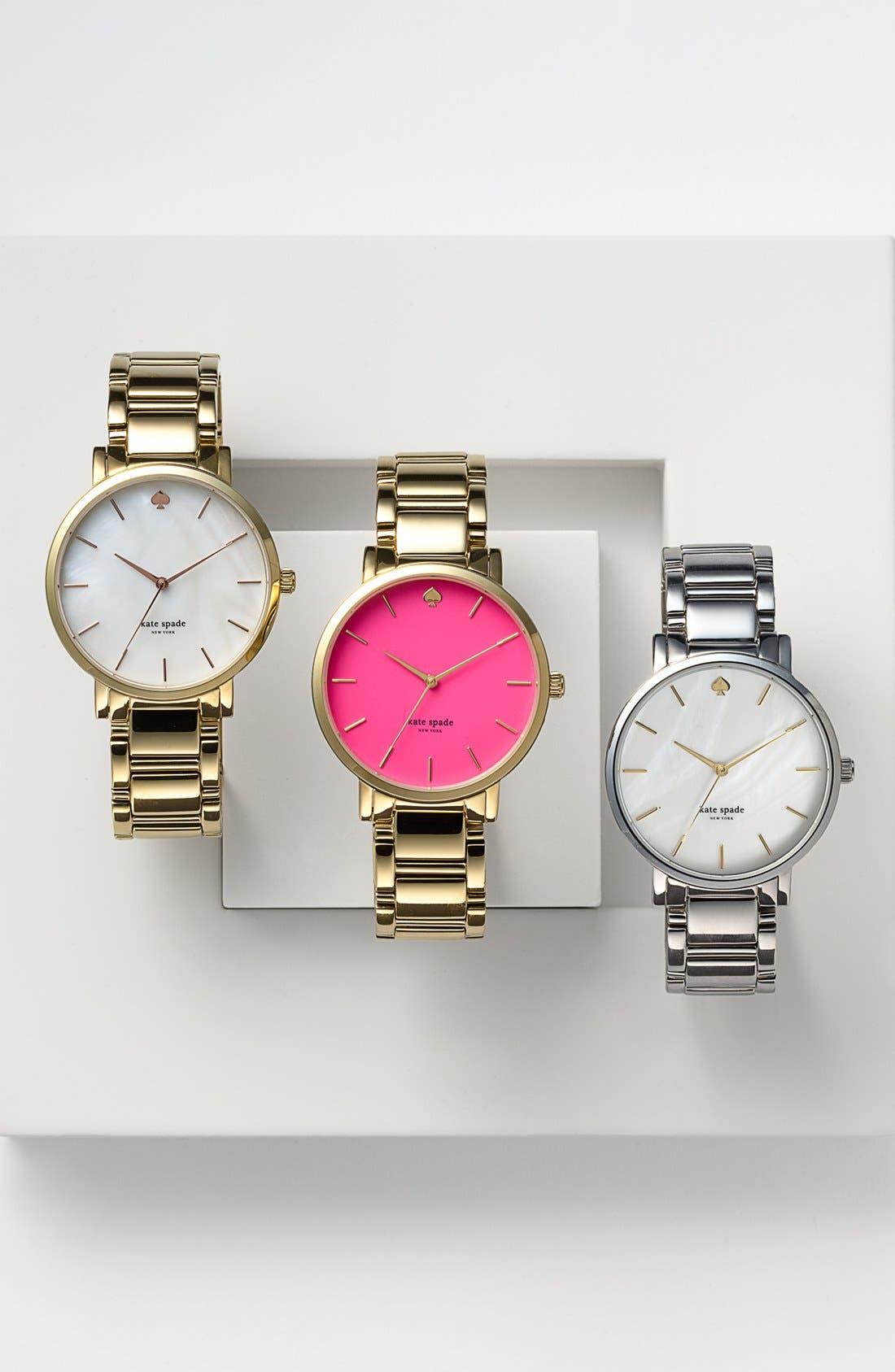 KATE SPADE NEW YORK, 'gramercy grand' bracelet watch, 38mm, Alternate thumbnail 5, color, 040