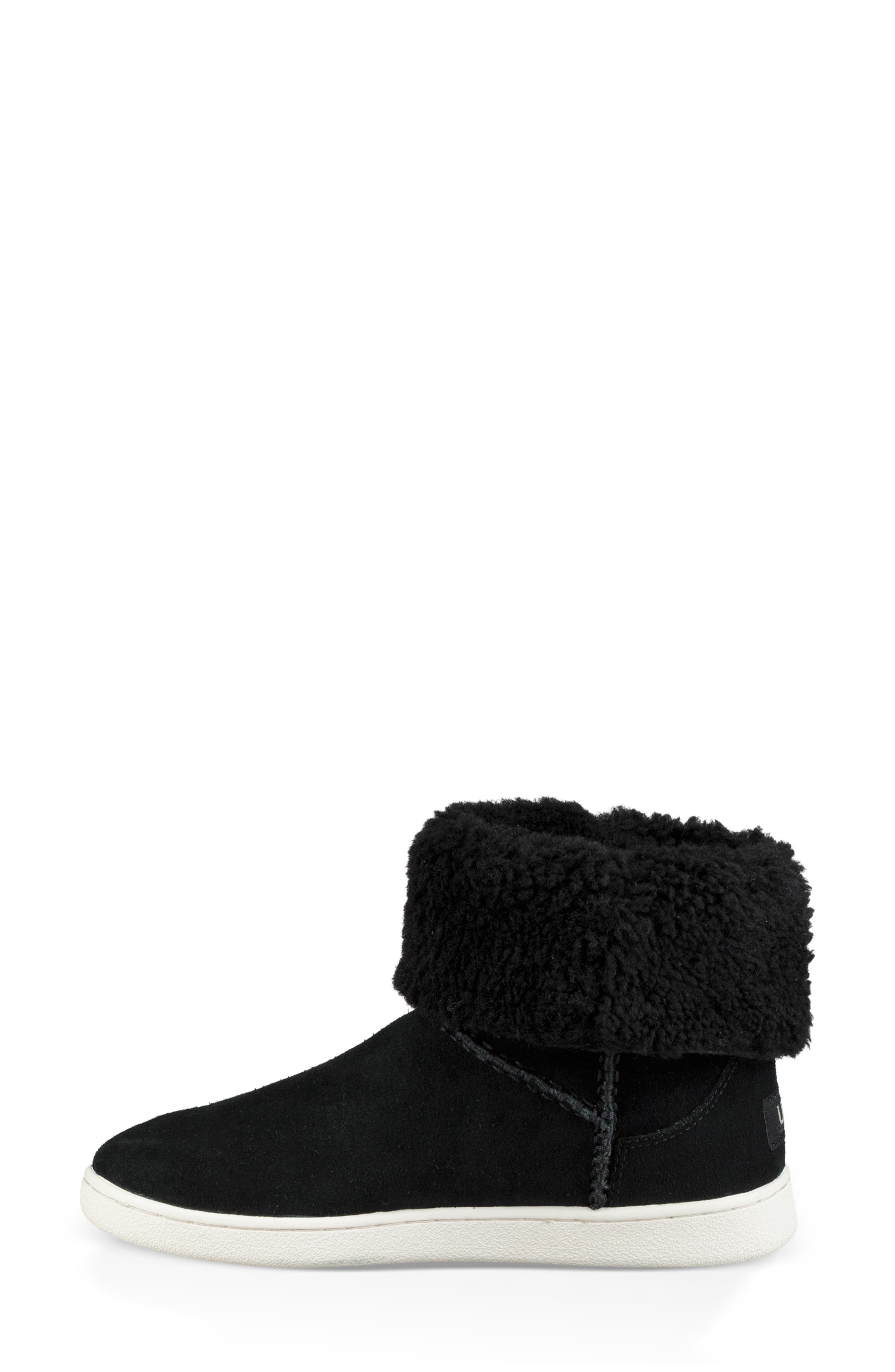 UGG<SUP>®</SUP>, Mika Classic Genuine Shearling Sneaker, Alternate thumbnail 8, color, BLACK
