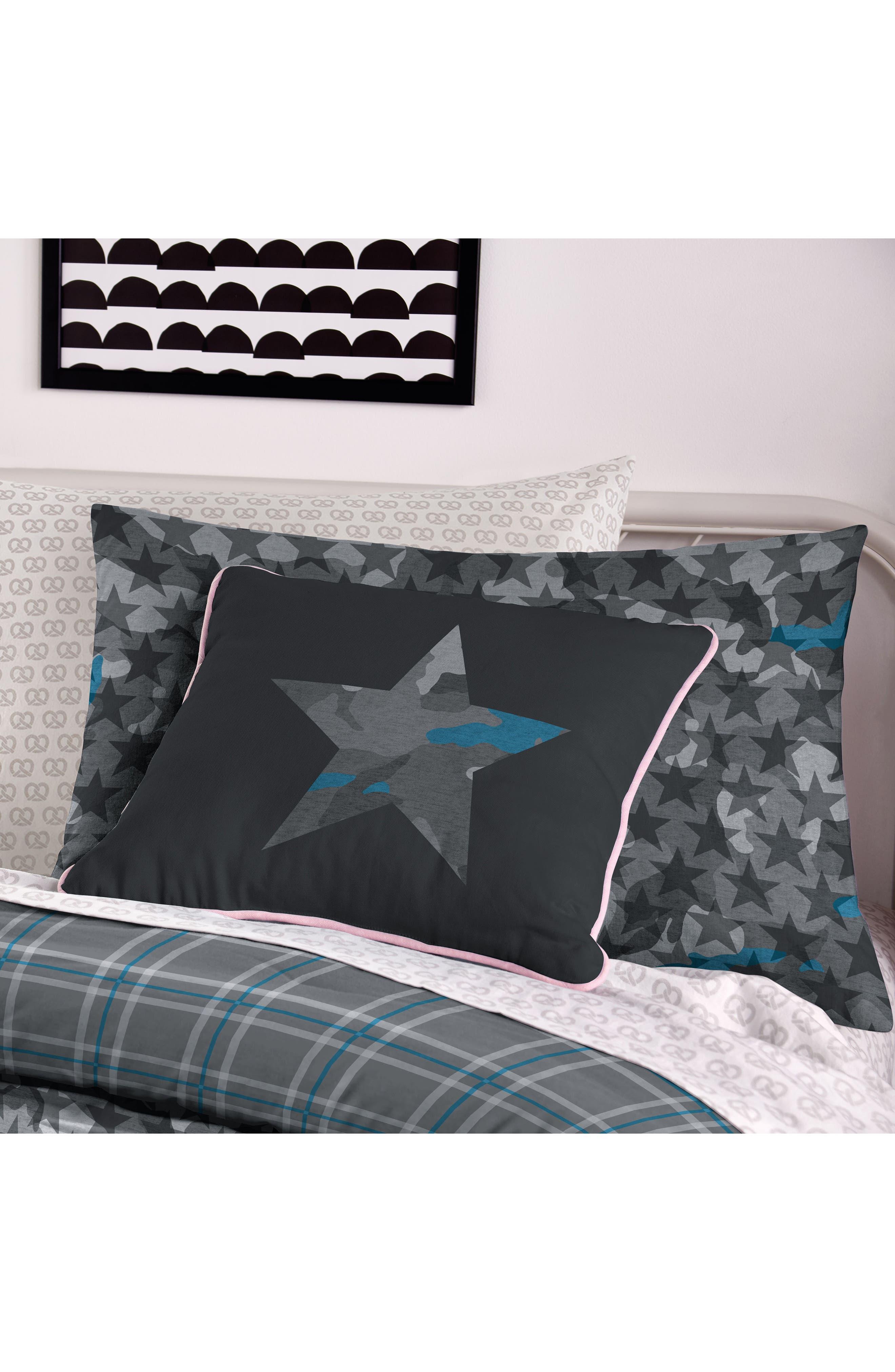 DKNY, Camo Comforter & Sham Set, Alternate thumbnail 3, color, 020