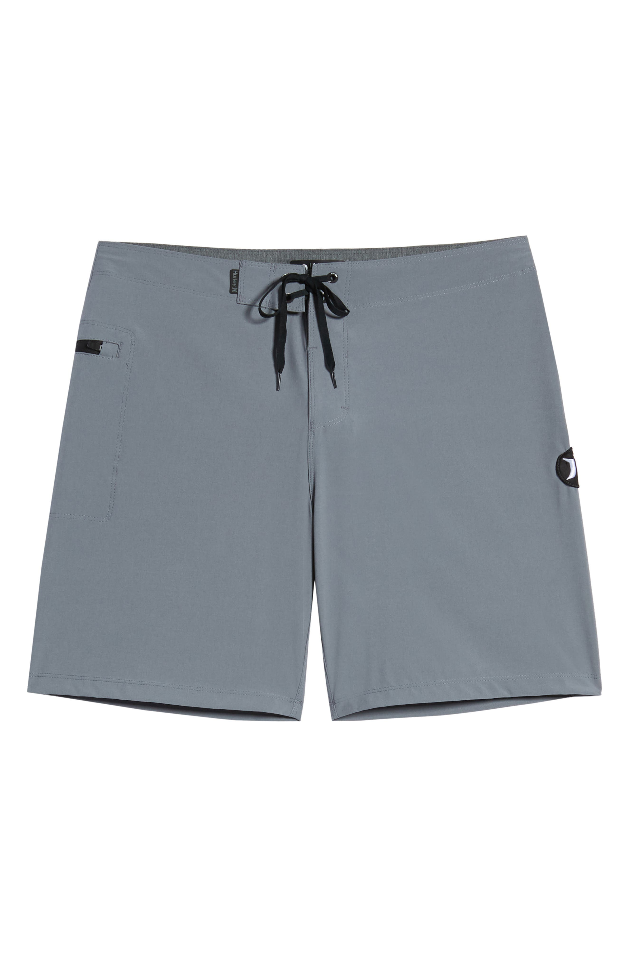 HURLEY, Phantom One & Only Board Shorts, Alternate thumbnail 6, color, COOL GREY