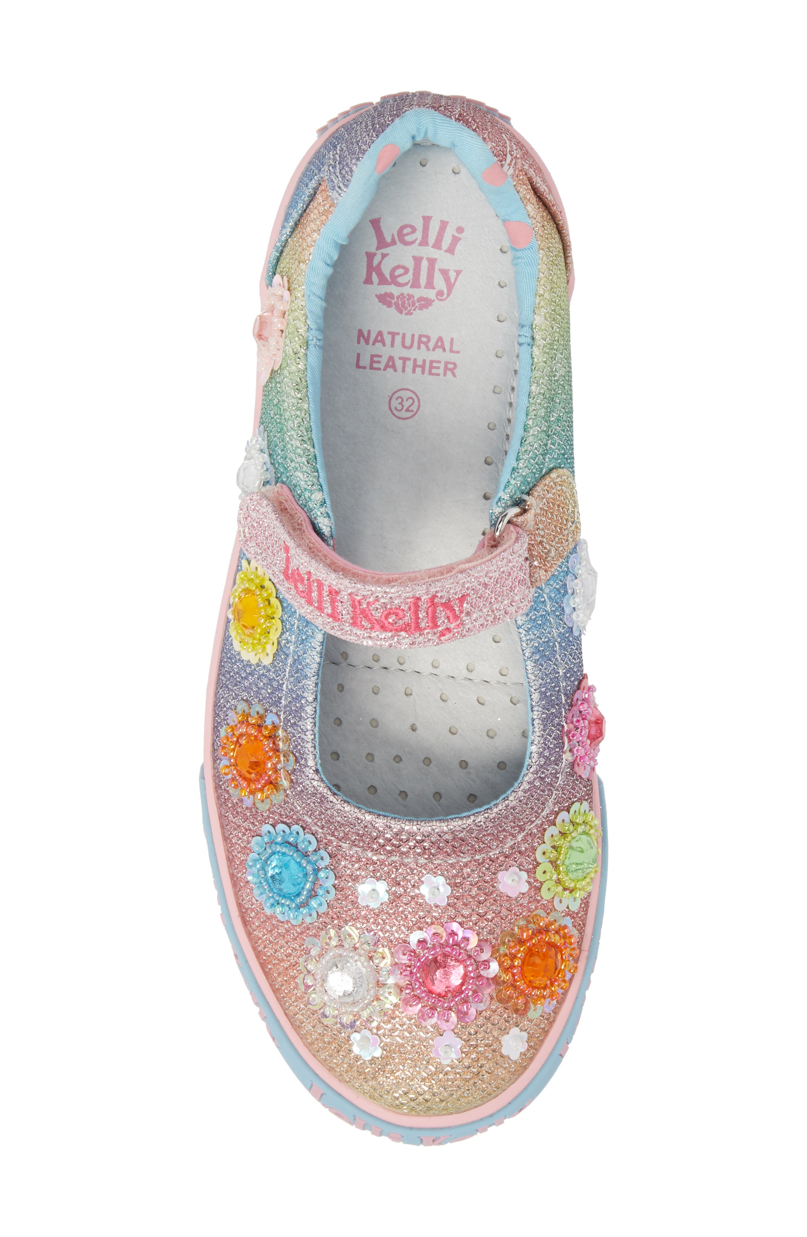 LELLI KELLY, Beaded Mary Jane Sneaker, Alternate thumbnail 5, color, BLUE