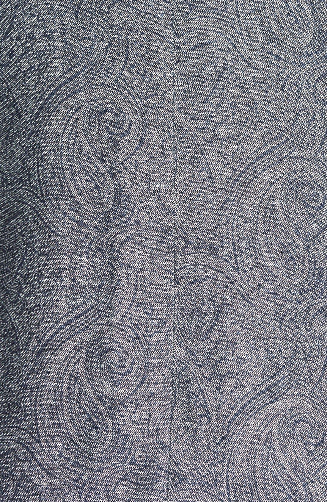 JOHN VARVATOS STAR USA, Paisley Print Linen Peak Lapel Sport Coat, Alternate thumbnail 3, color, 481