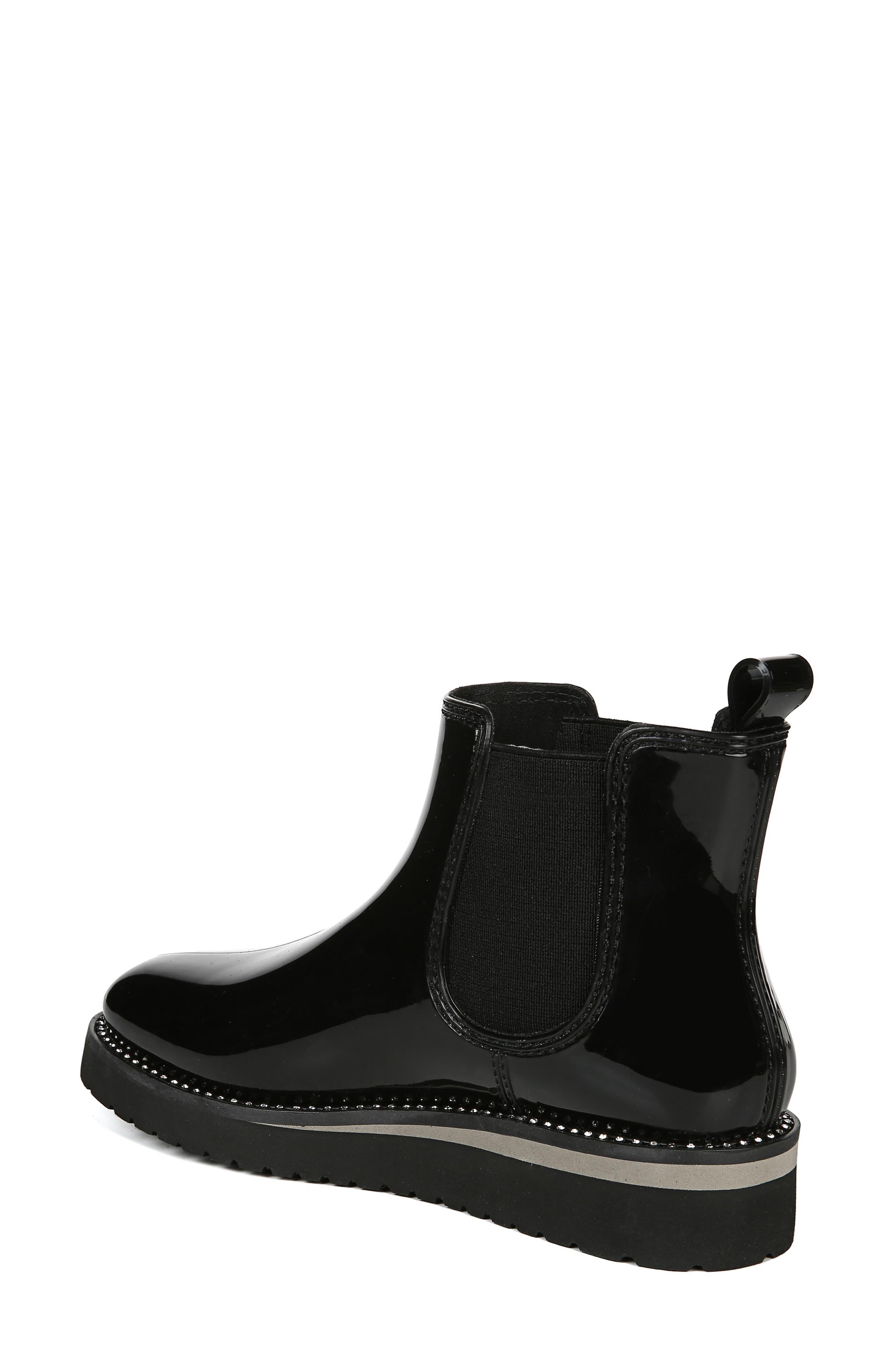 NATURALIZER, Luna Waterproof Chelsea Boot, Alternate thumbnail 2, color, BLACK