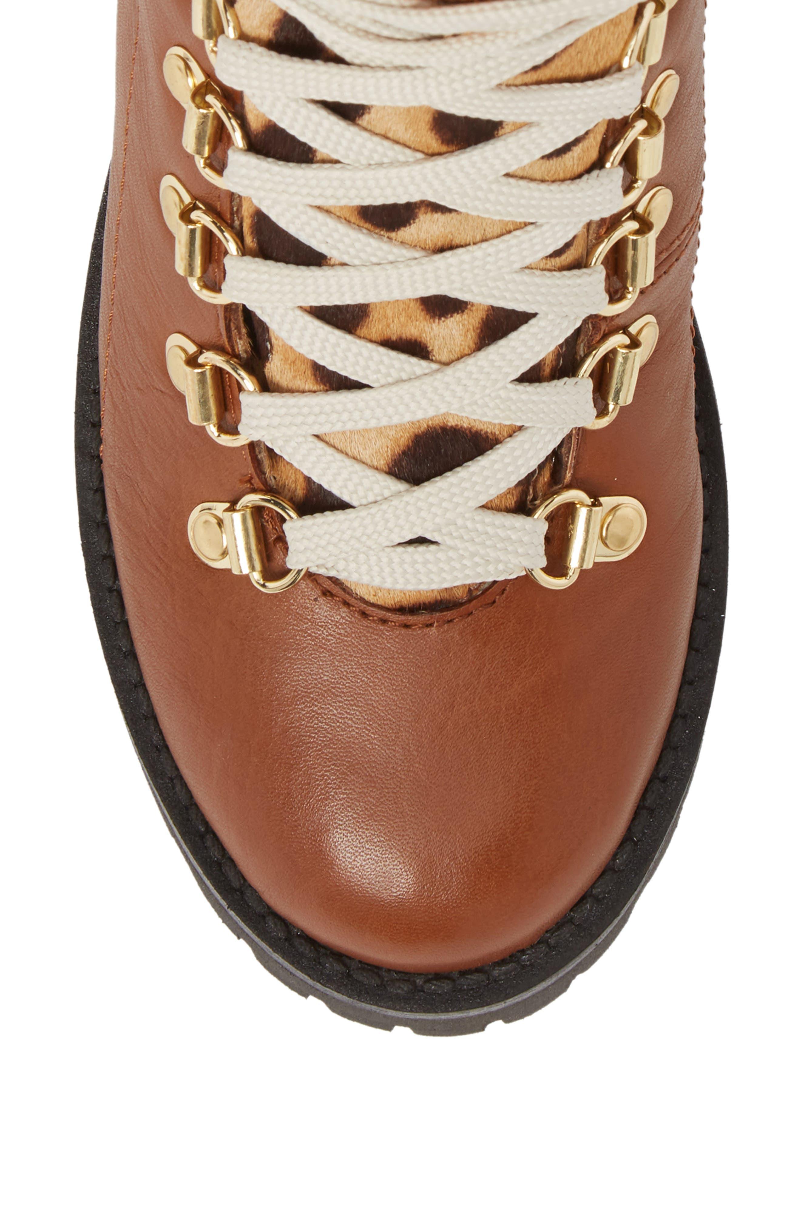 STEVE MADDEN, Boom Hiker Boot with Genuine Calf Hair, Alternate thumbnail 5, color, 200