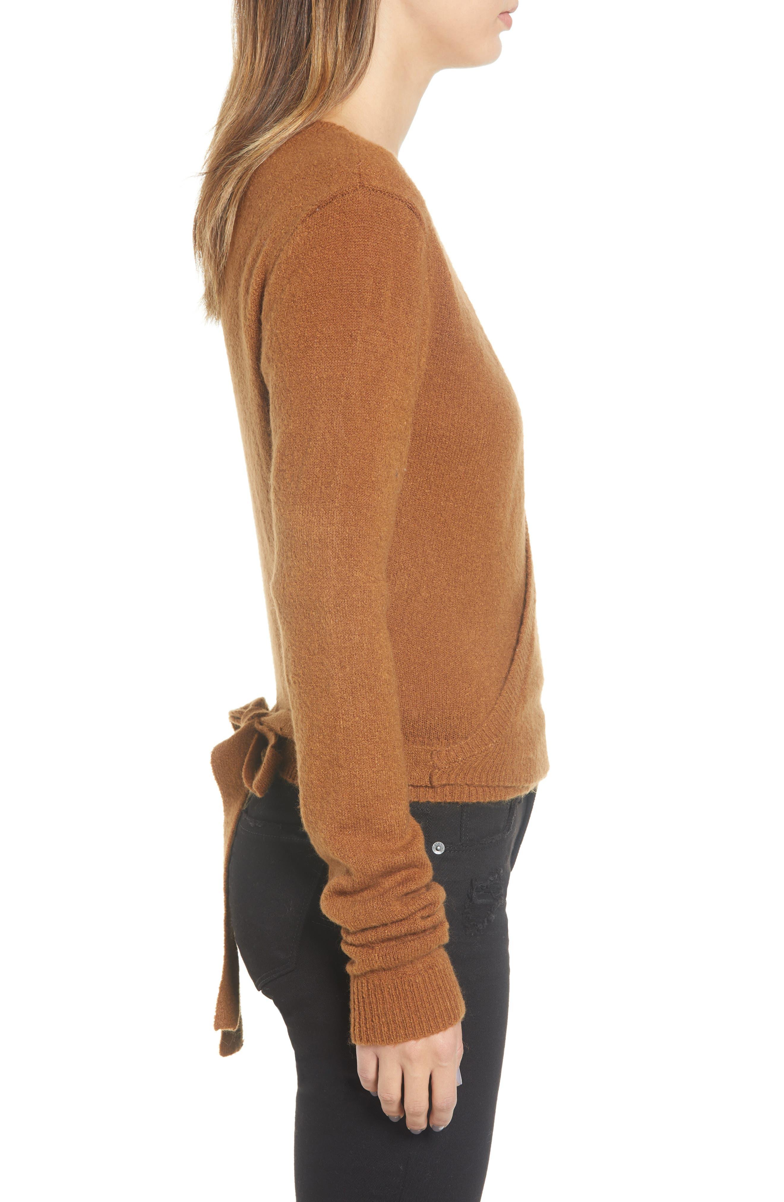 RVCA, The Fuz Wrap Sweater, Alternate thumbnail 3, color, 200