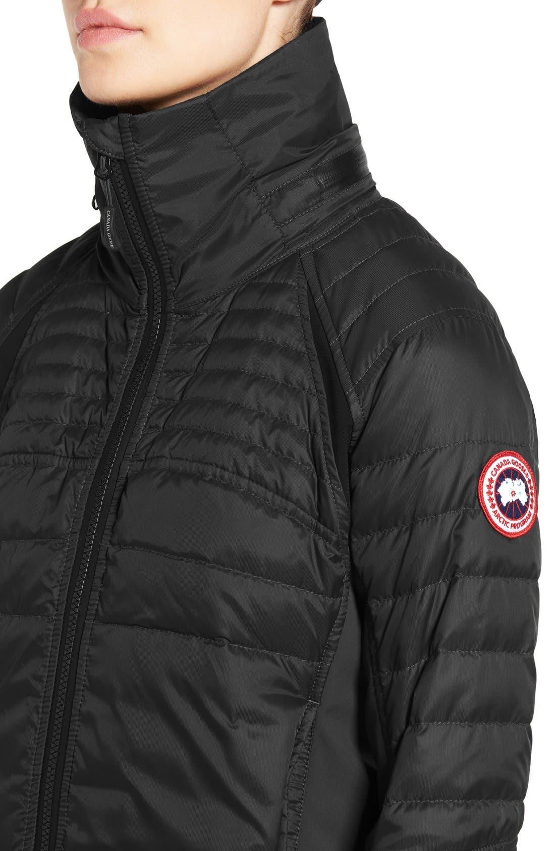 CANADA GOOSE, Hybridge Perren Jacket, Alternate thumbnail 6, color, BLACK