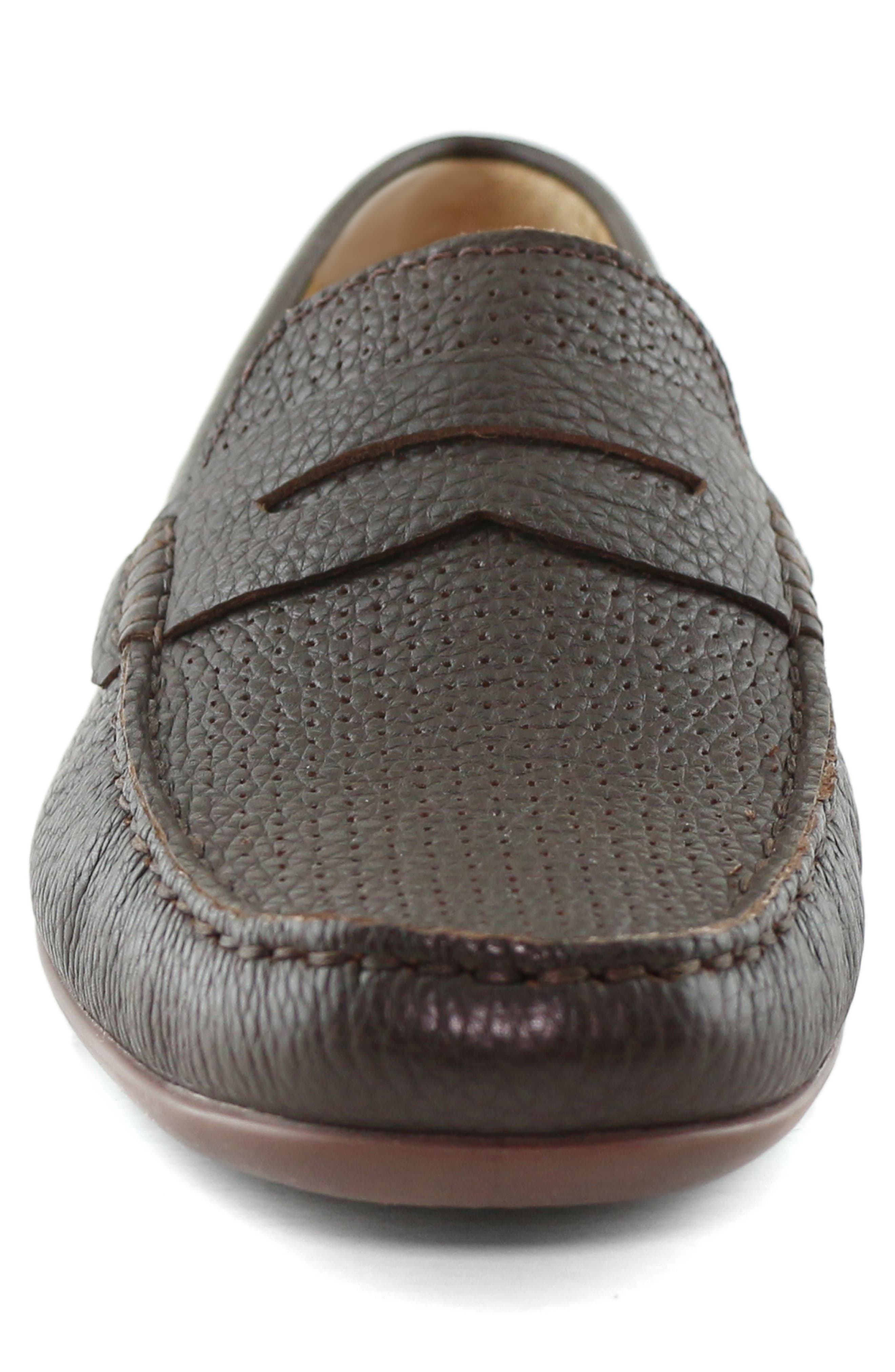 MARC JOSEPH NEW YORK, 'Union Street' Penny Loafer, Alternate thumbnail 4, color, BROWN GRAINY LEATHER
