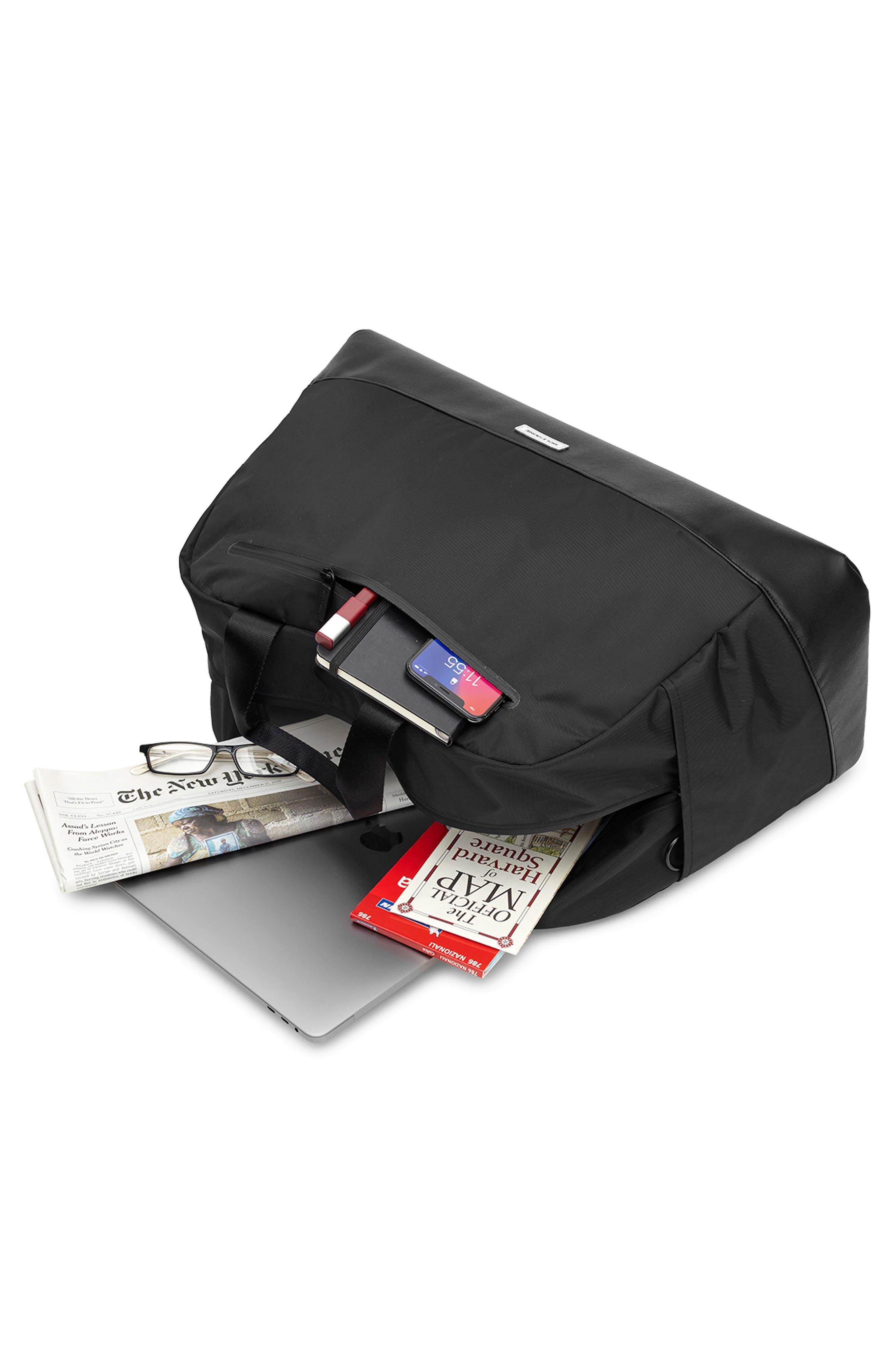 MOLESKINE, Moleskin Metro Duffle Bag, Alternate thumbnail 5, color, BLACK