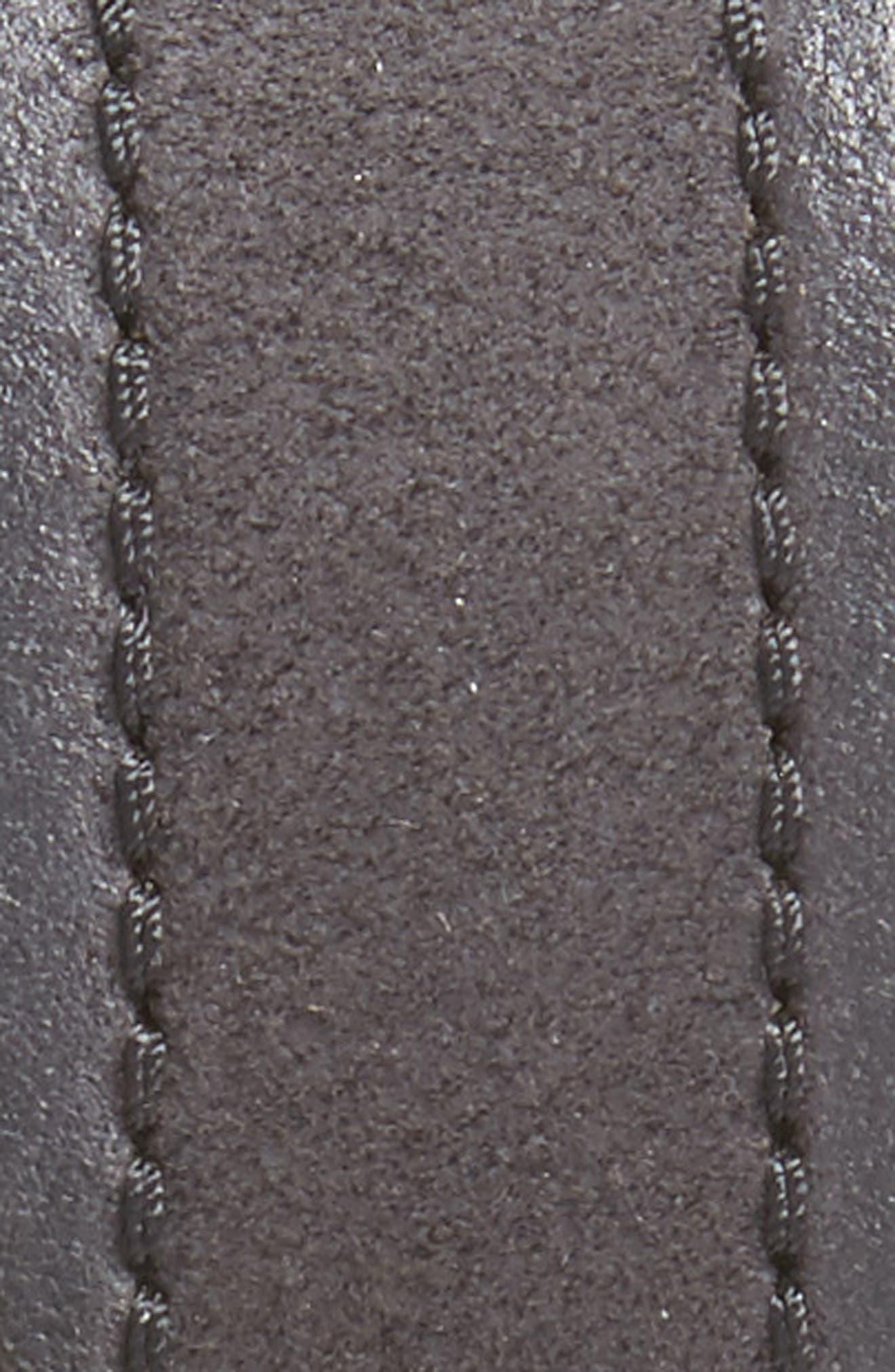 JOHN VARVATOS STAR USA, Suede Belt, Alternate thumbnail 2, color, 001