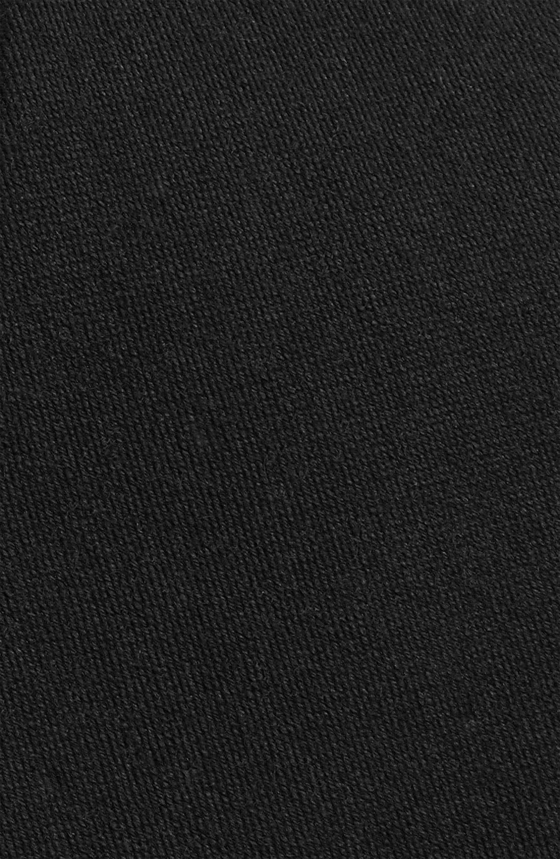 THE TIE BAR, Solid Wool Blend Skinny Tie, Alternate thumbnail 2, color, BLACK