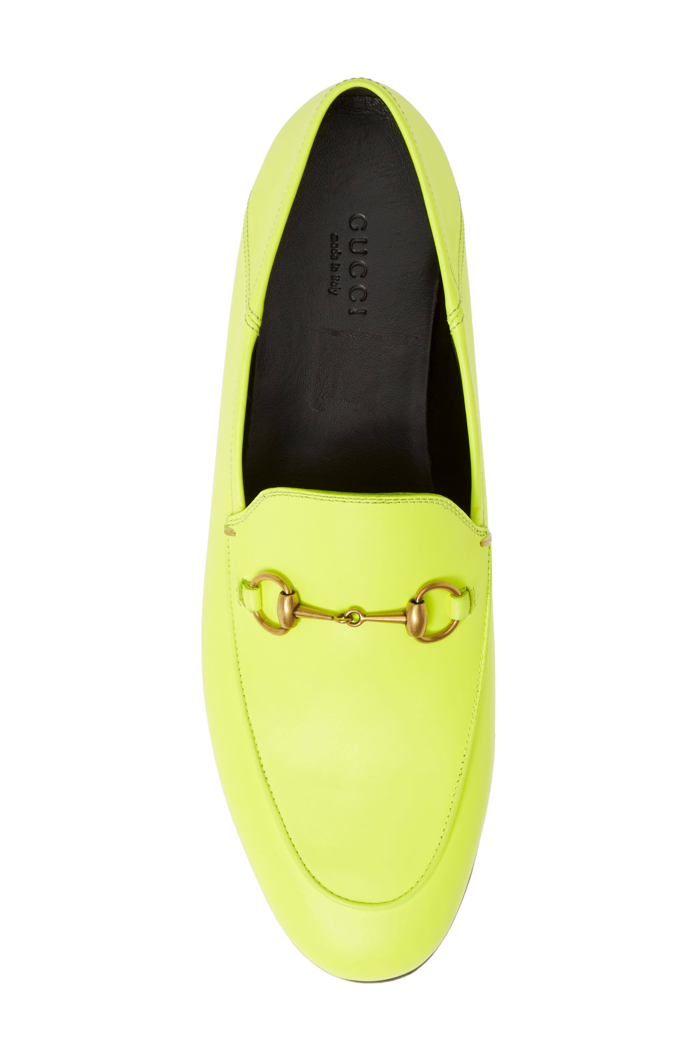 GUCCI, Brixton Convertible Loafer, Alternate thumbnail 5, color, YELLOW FLUO LEATHER