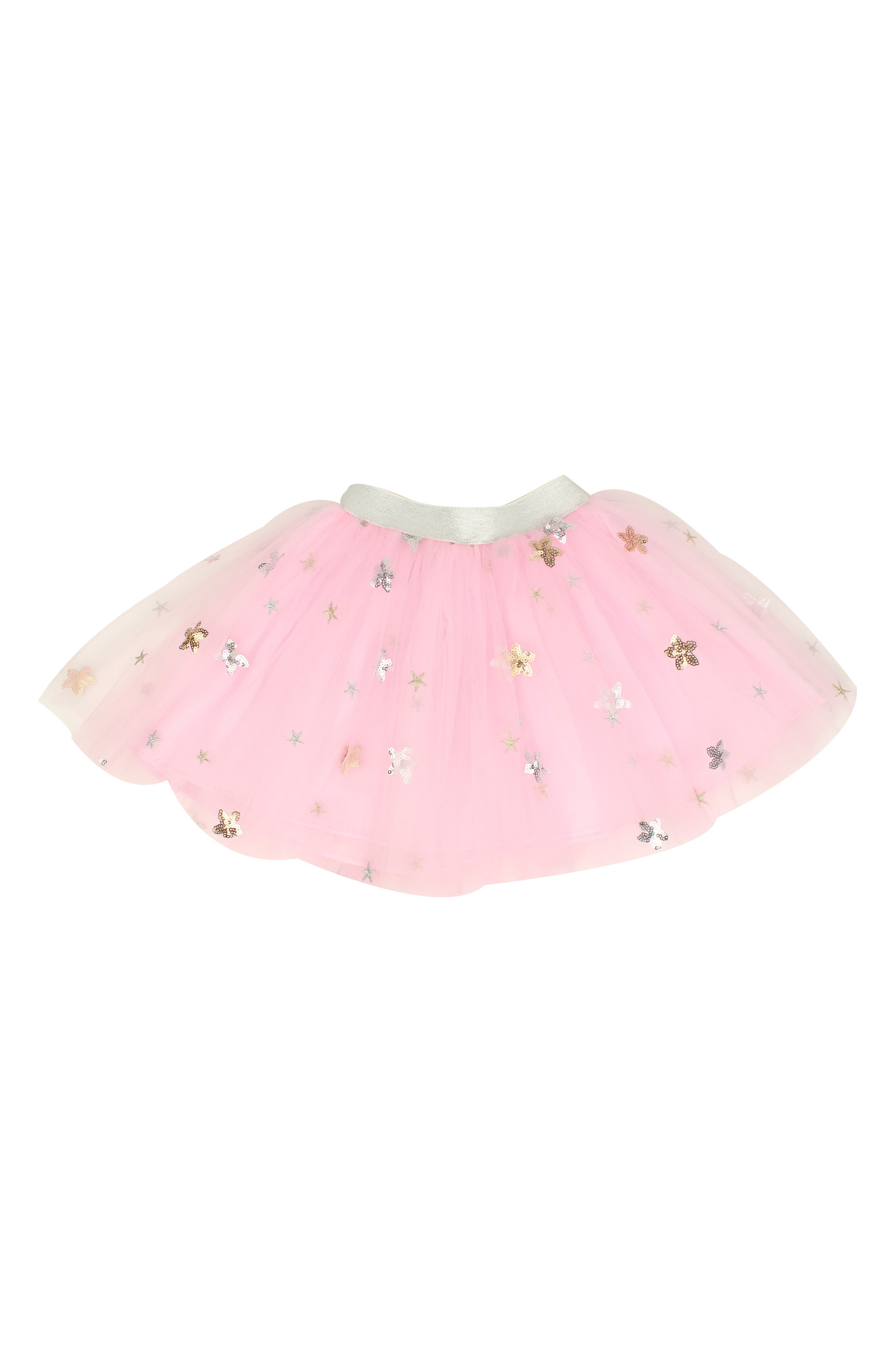 POPATU Star Tulle Skirt, Main, color, PINK