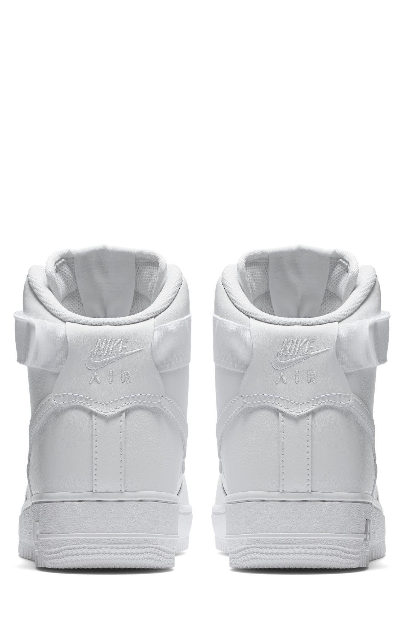 NIKE, Air Force 1 High Top Sneaker, Alternate thumbnail 2, color, WHITE/ WHITE/ WHITE