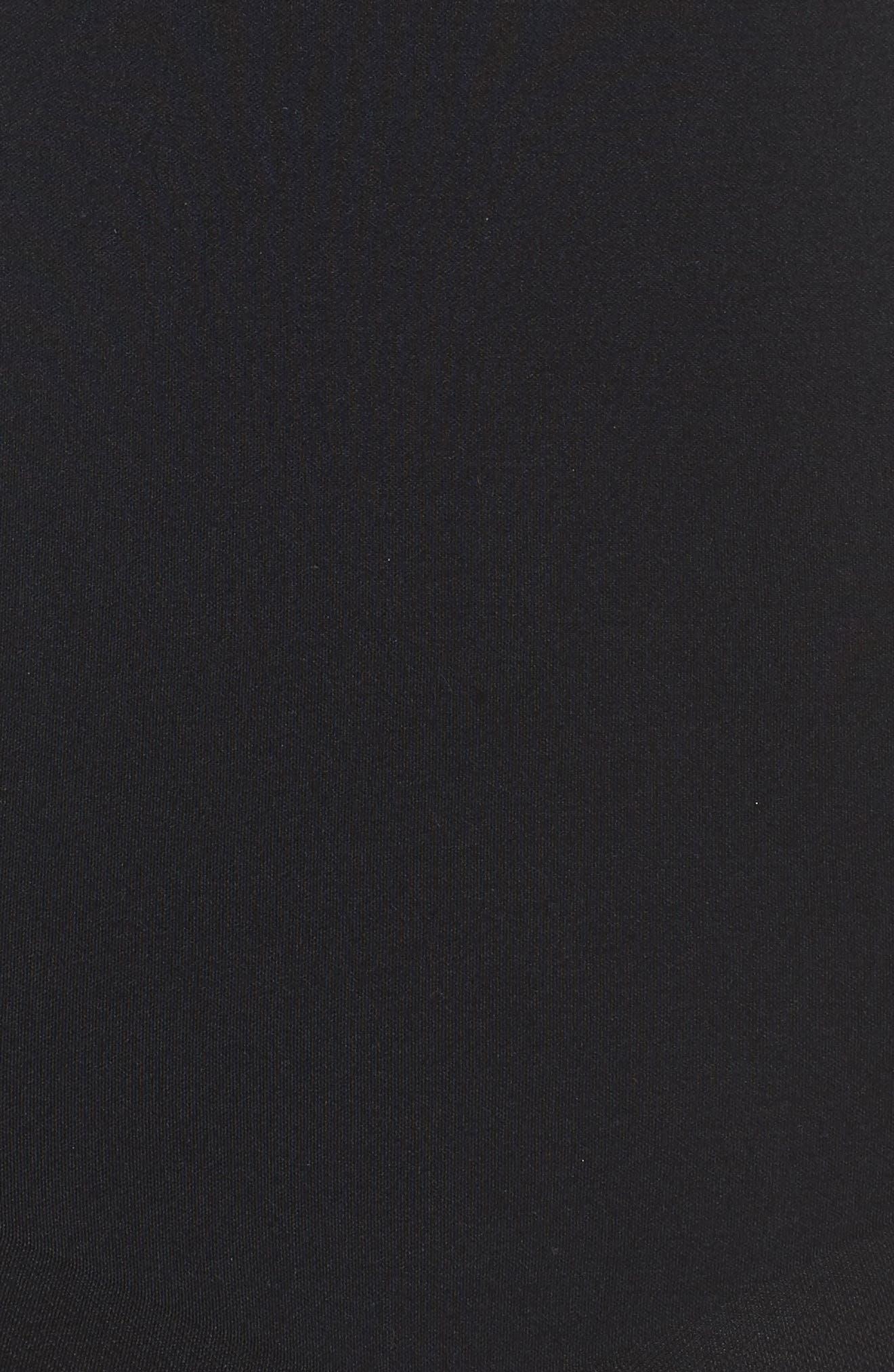 SPANX<SUP>®</SUP>, Oncore Mid Thigh Bodysuit, Alternate thumbnail 5, color, BLACK