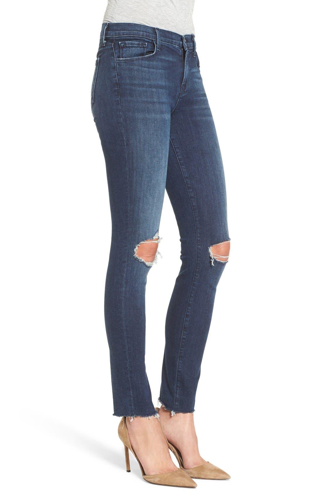 J BRAND, '811' Ankle Skinny Jeans, Alternate thumbnail 2, color, 401