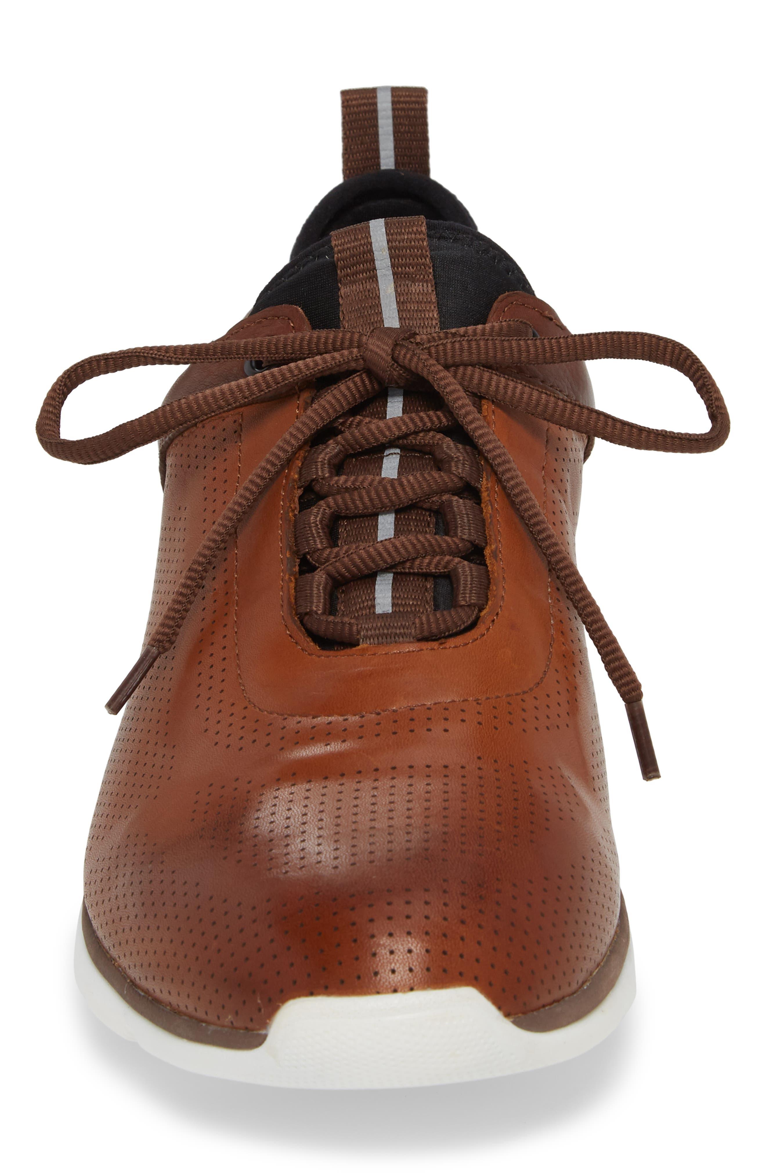 JOHNSTON & MURPHY, Prentiss XC4<sup>®</sup> Waterproof Sneaker, Alternate thumbnail 4, color, MAHOGANY LEATHER